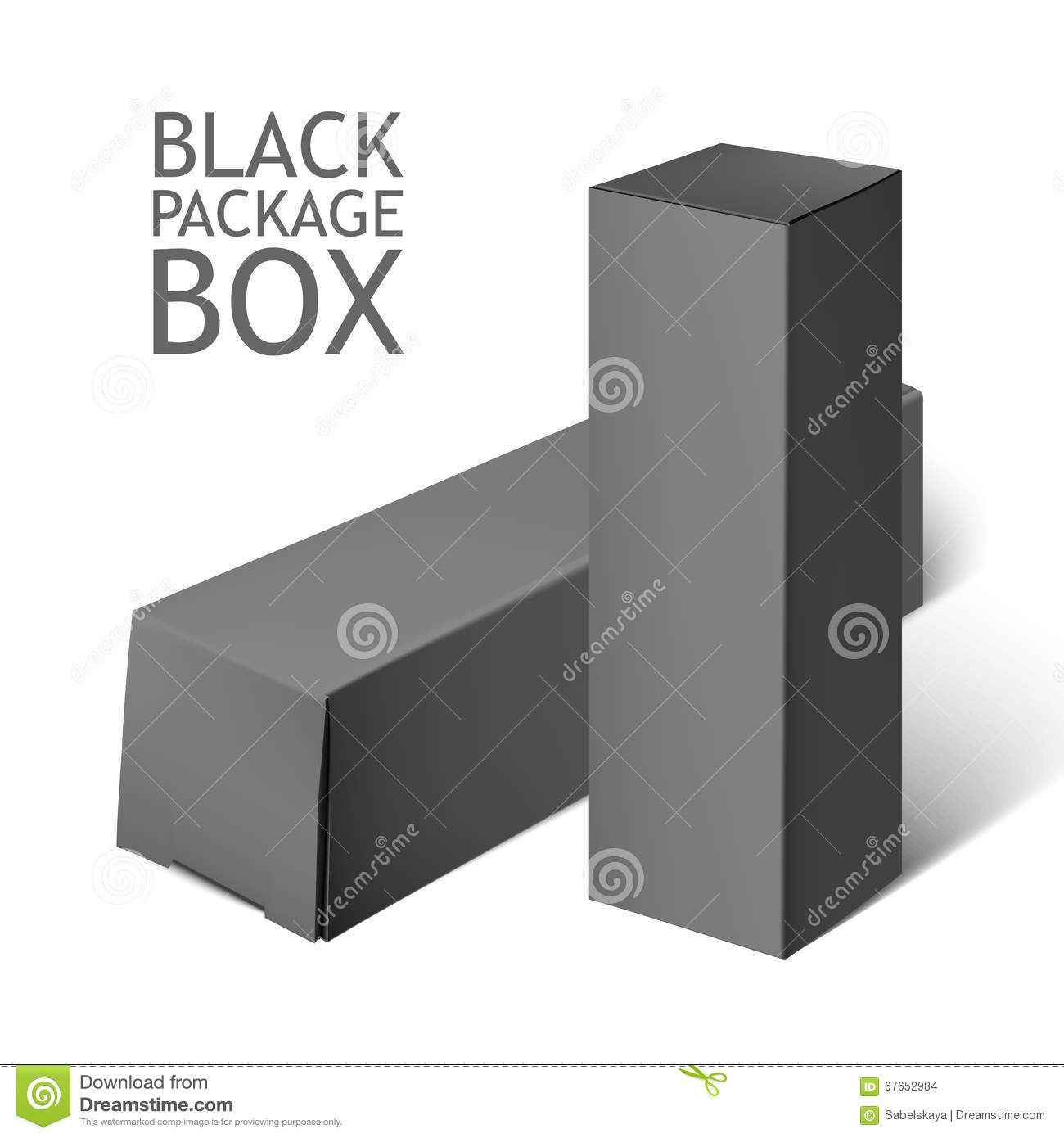 Black Package Box Mockup Template Stock Illustrations – 797 Black ...