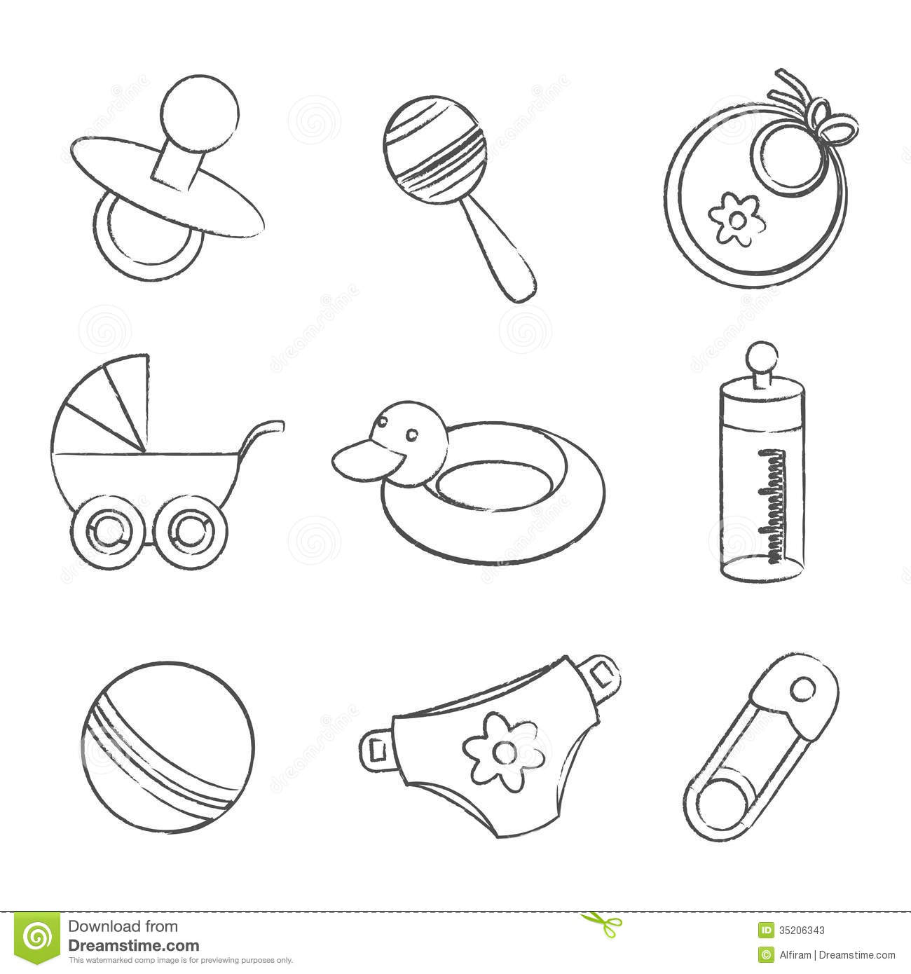 Baby symbols clip art images symbol and sign ideas set of black and white baby symbols stock vector illustration of set of black and white buycottarizona Gallery
