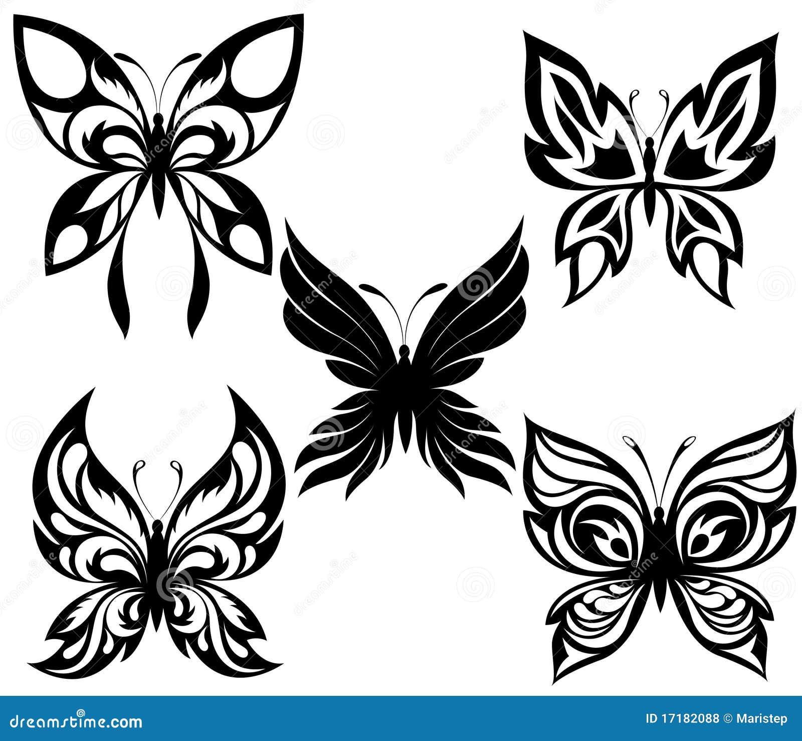 Тату бабочки фото черно белое