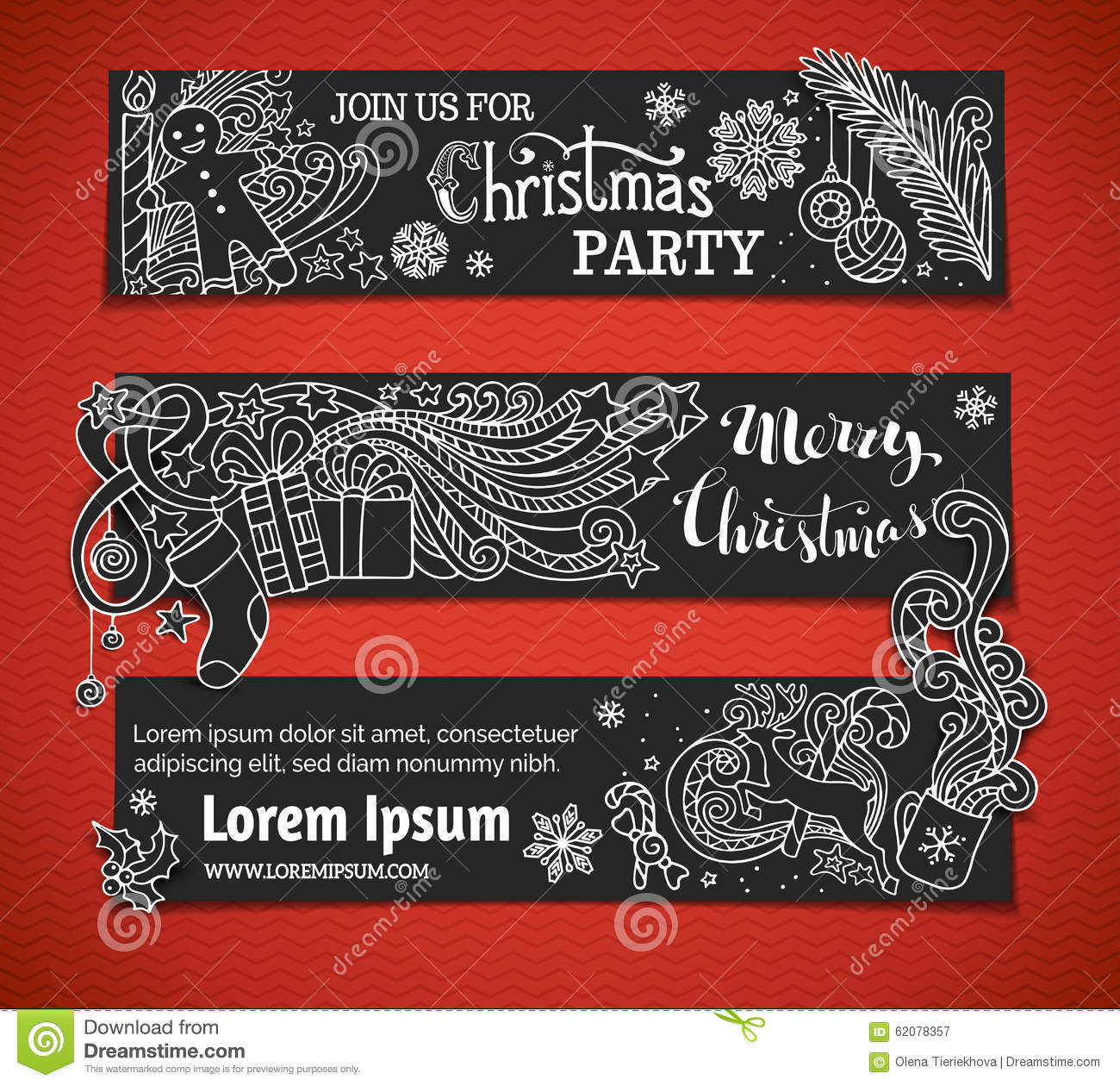 set of black and white christmas banners - When Was White Christmas Written