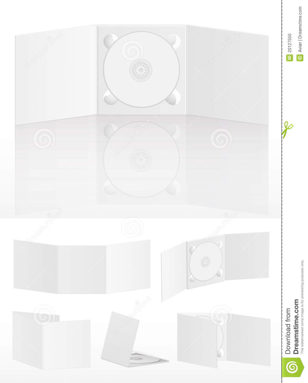Set Of Blank Cd Covers On White Stock Photo - Image: 20127550