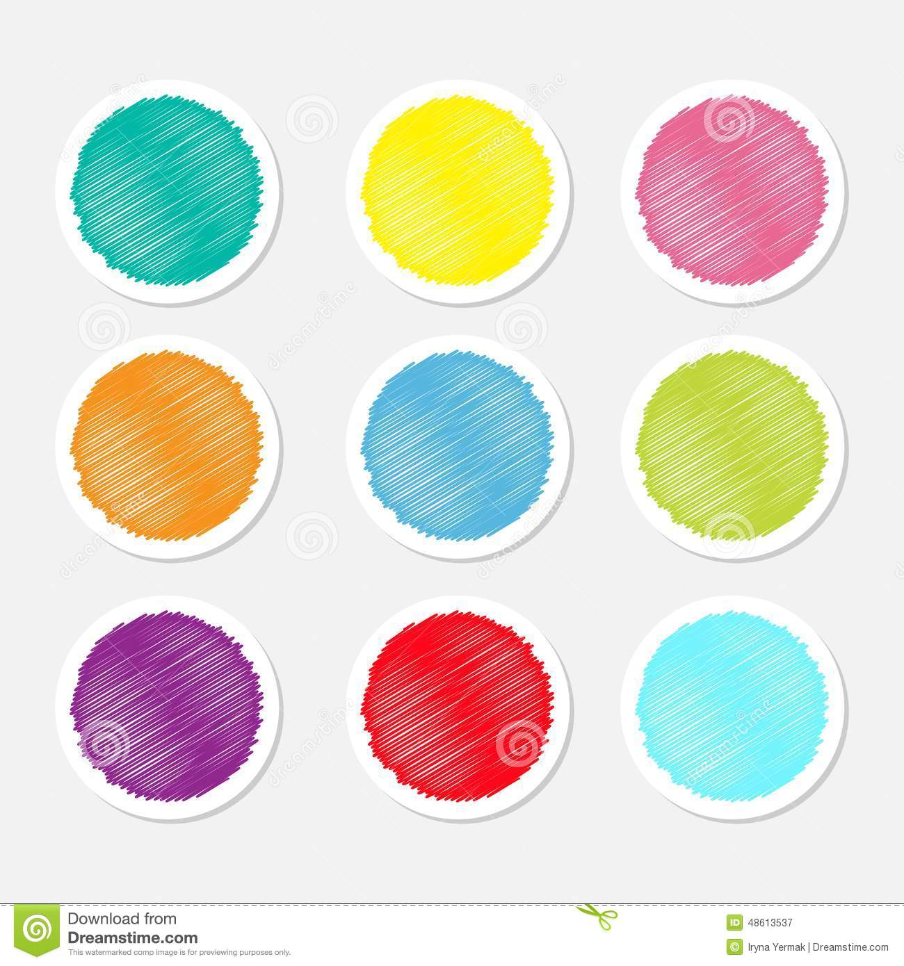 Stock Vector: Set of blank colorful round label buttons tag sticker ...