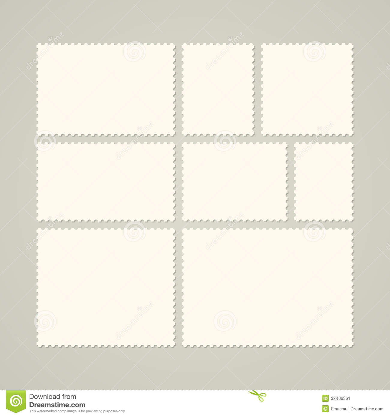 Italian handwritten postcard letter stock photo image 39254147 - Set Of Blank Postage Stamps Blank Mail Stamp