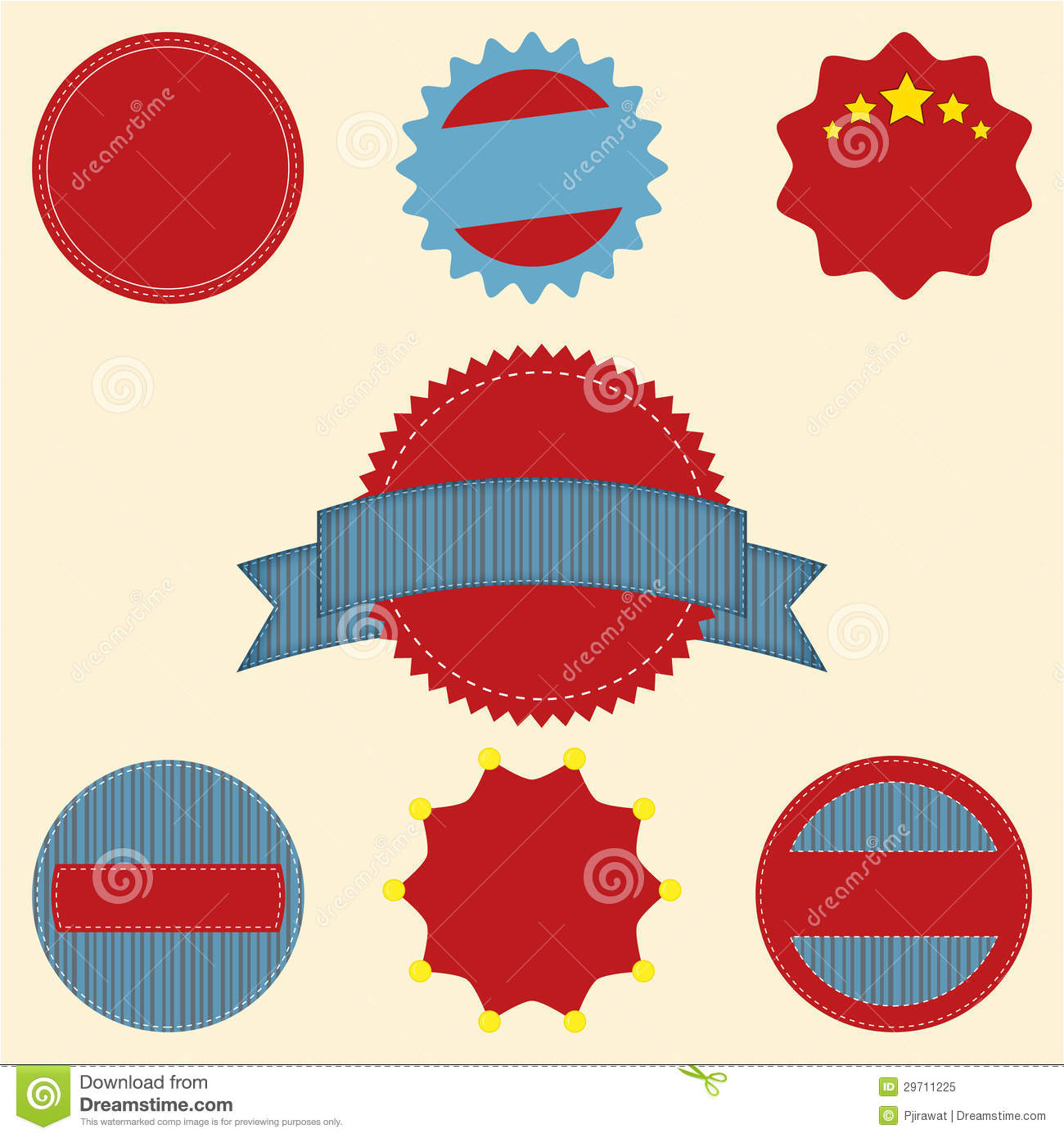 set of blank retro vintage badge icons for logo l stock vector