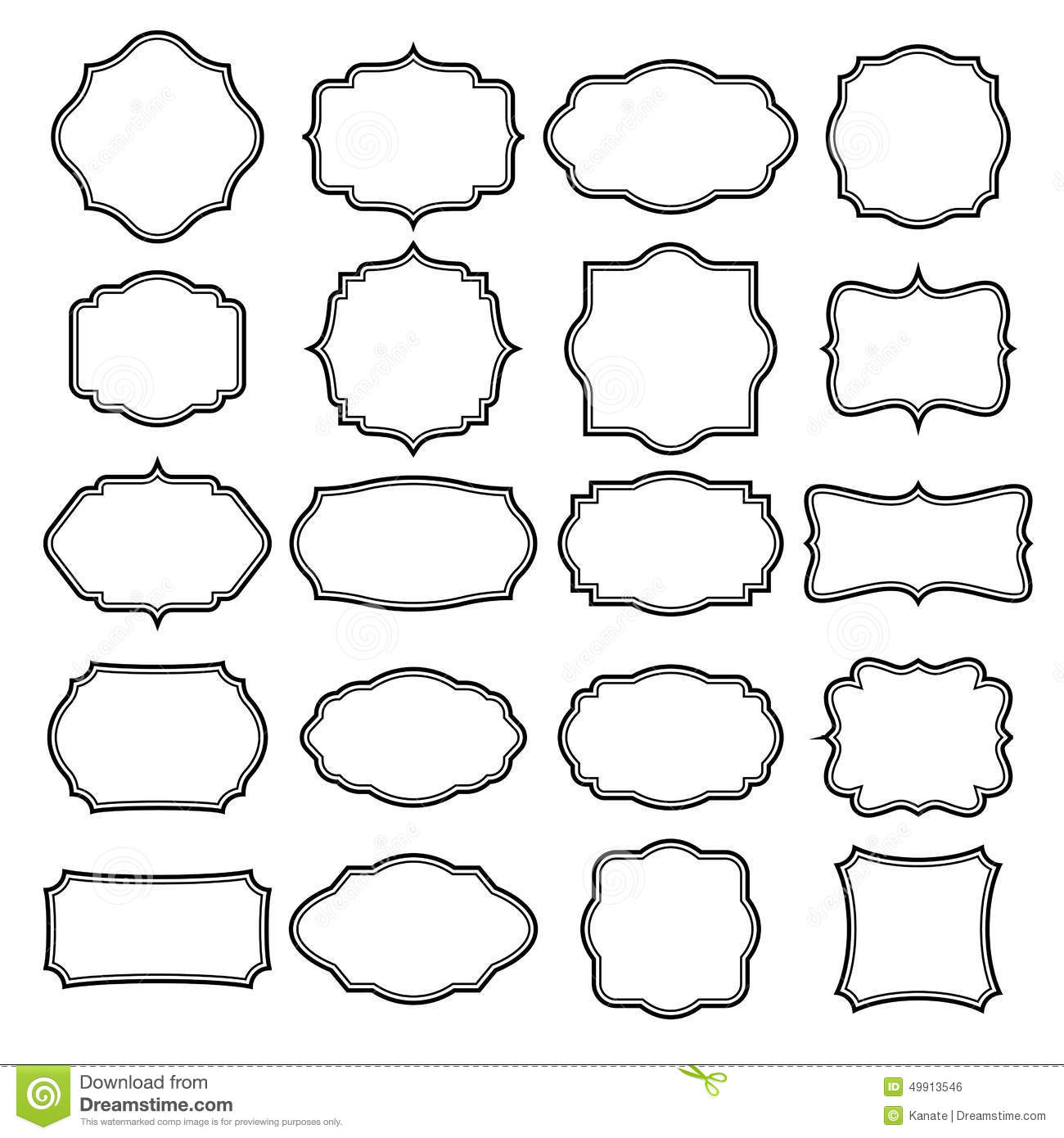 Set Of Blank Retro Vintage Badges And Labels Stock Vector - Image ...