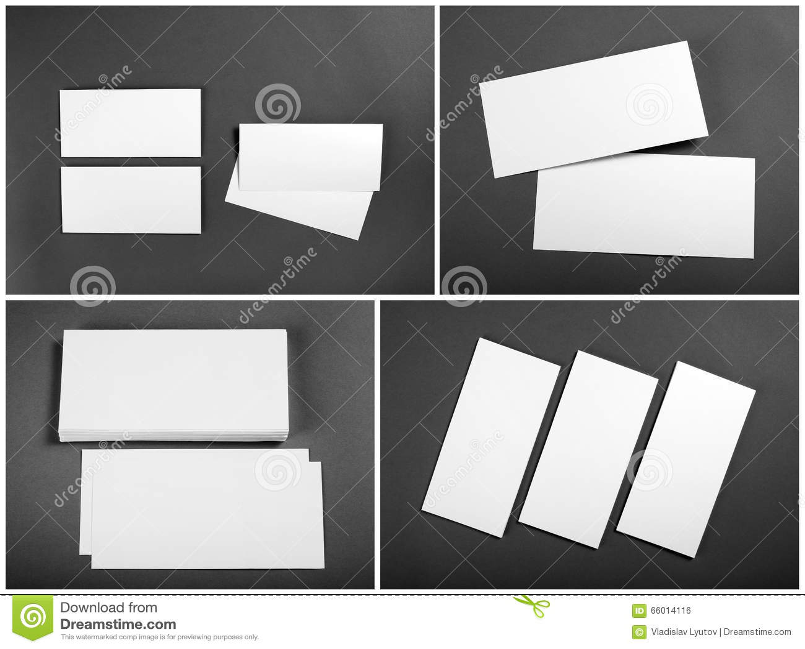 Set of Blank white flyers over gray background. Identity design.