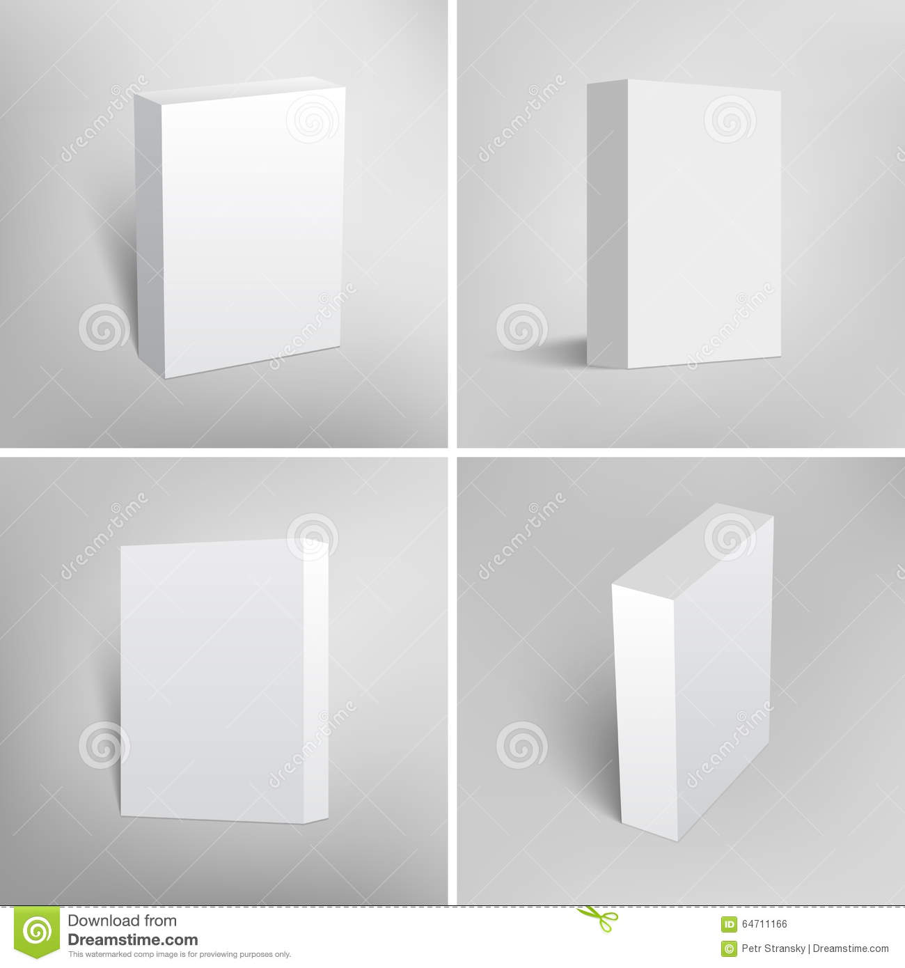Set Of Blank White Packaging Boxes For Software Stock Vector ...