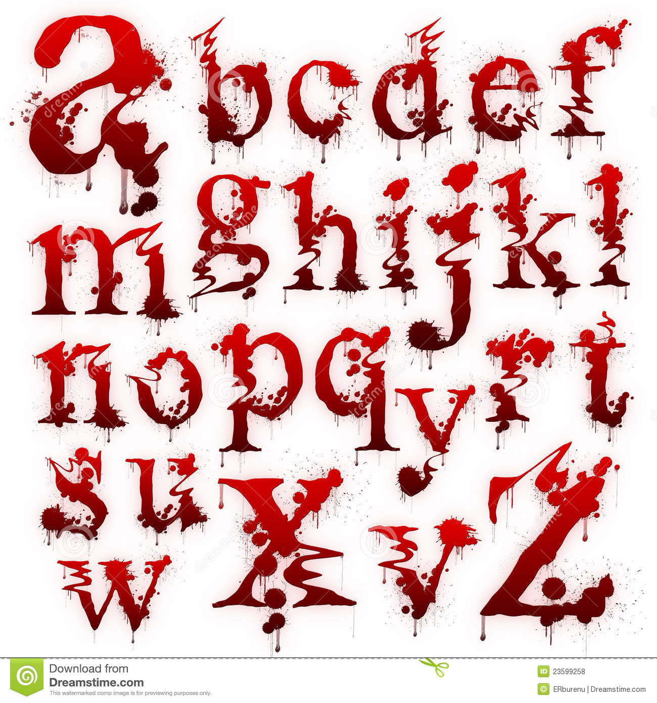 ... Of Bloody Letters Isolated Royalty Free Stock Photos - Image: 23599258