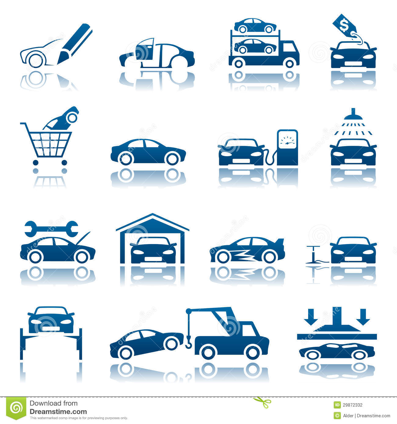 automotive icon set stock vector illustration of auto 29872332