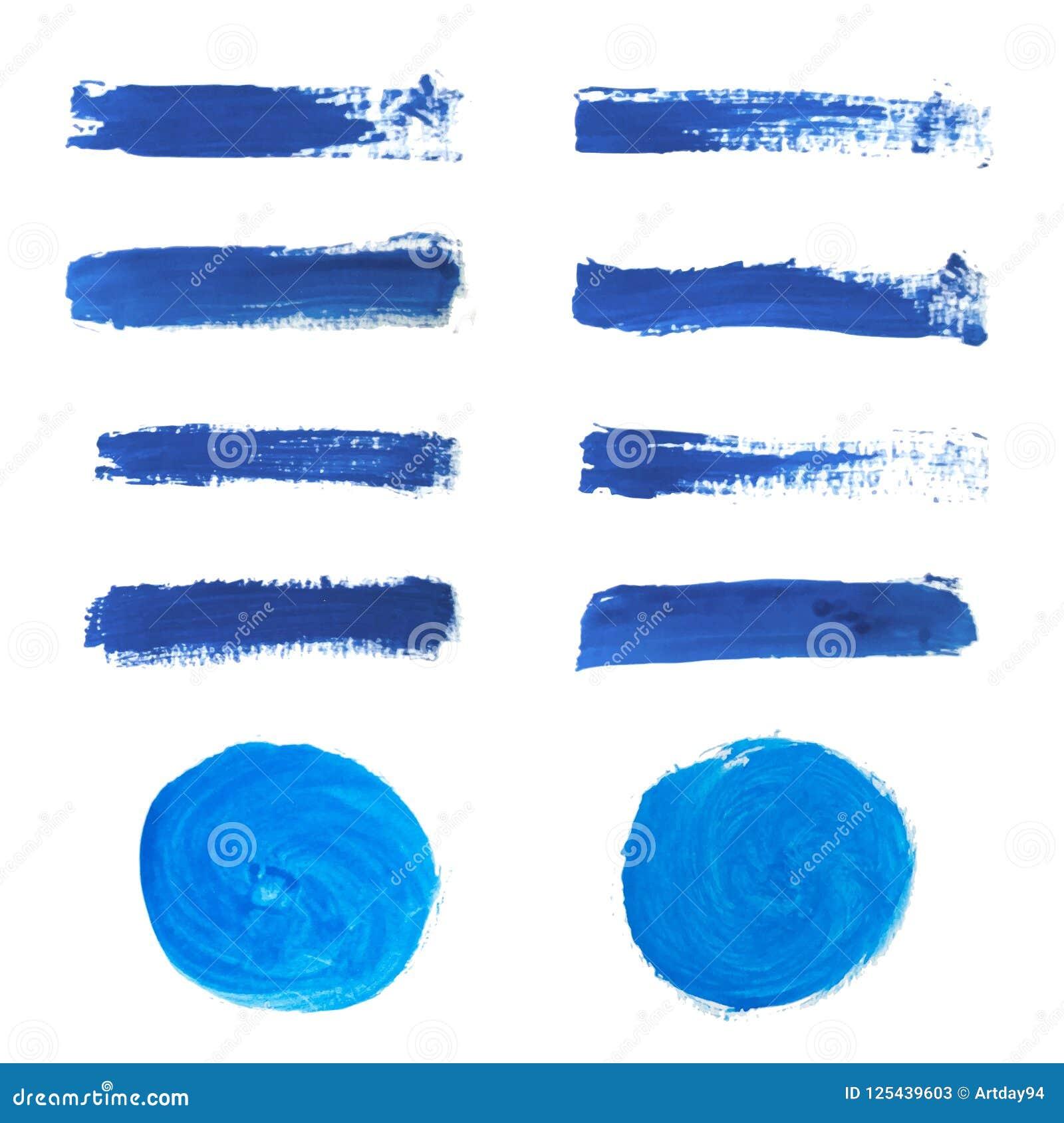 c8381b891f03 Set Of Blue Hand Paint