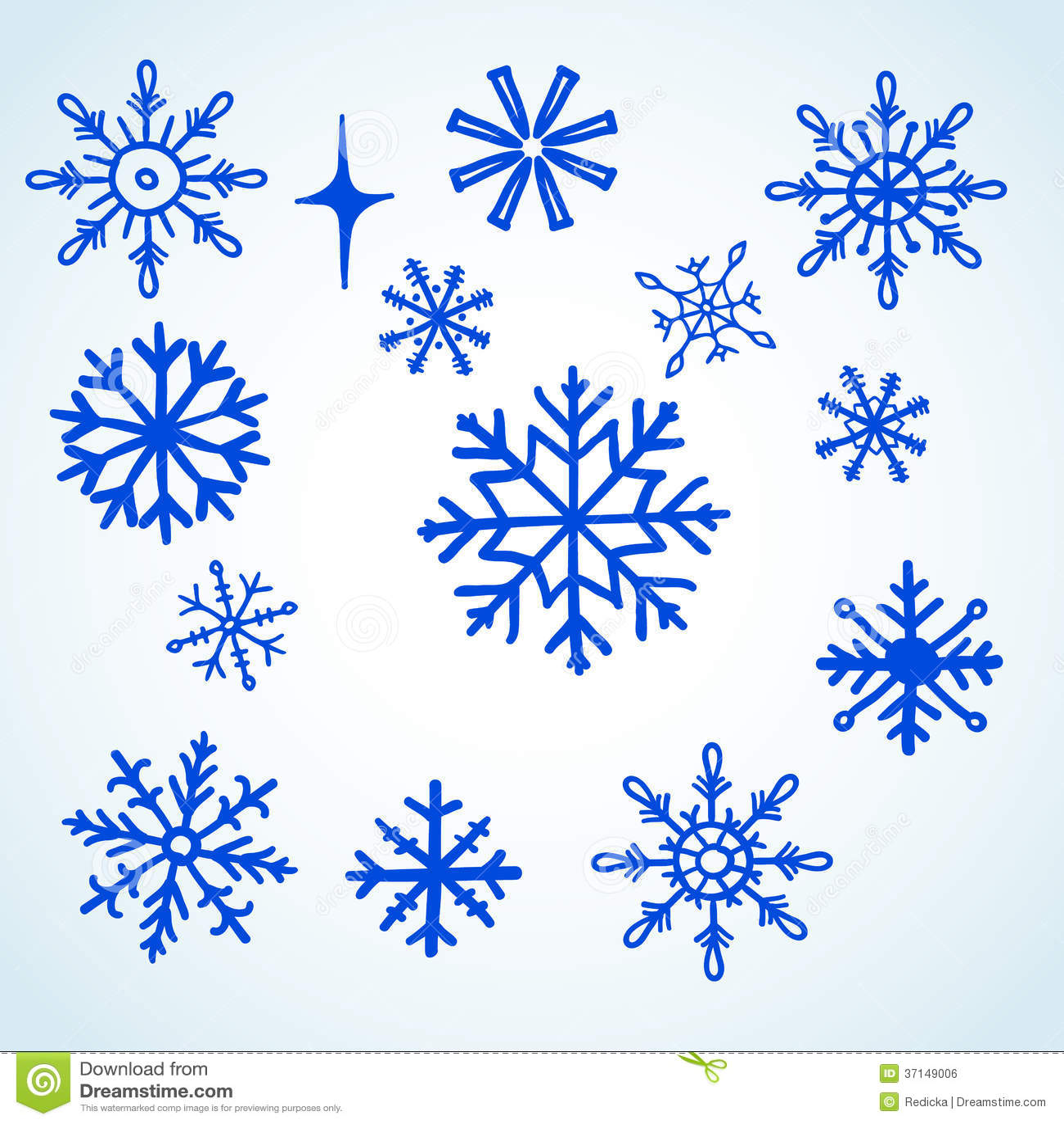 Snowflakes Doodle stock vector art 512422349 | iStock