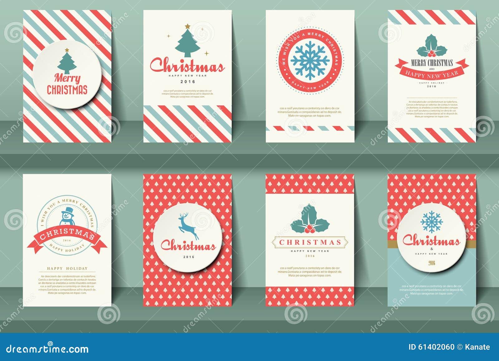 Set Bożenarodzeniowe broszurki w rocznika stylu
