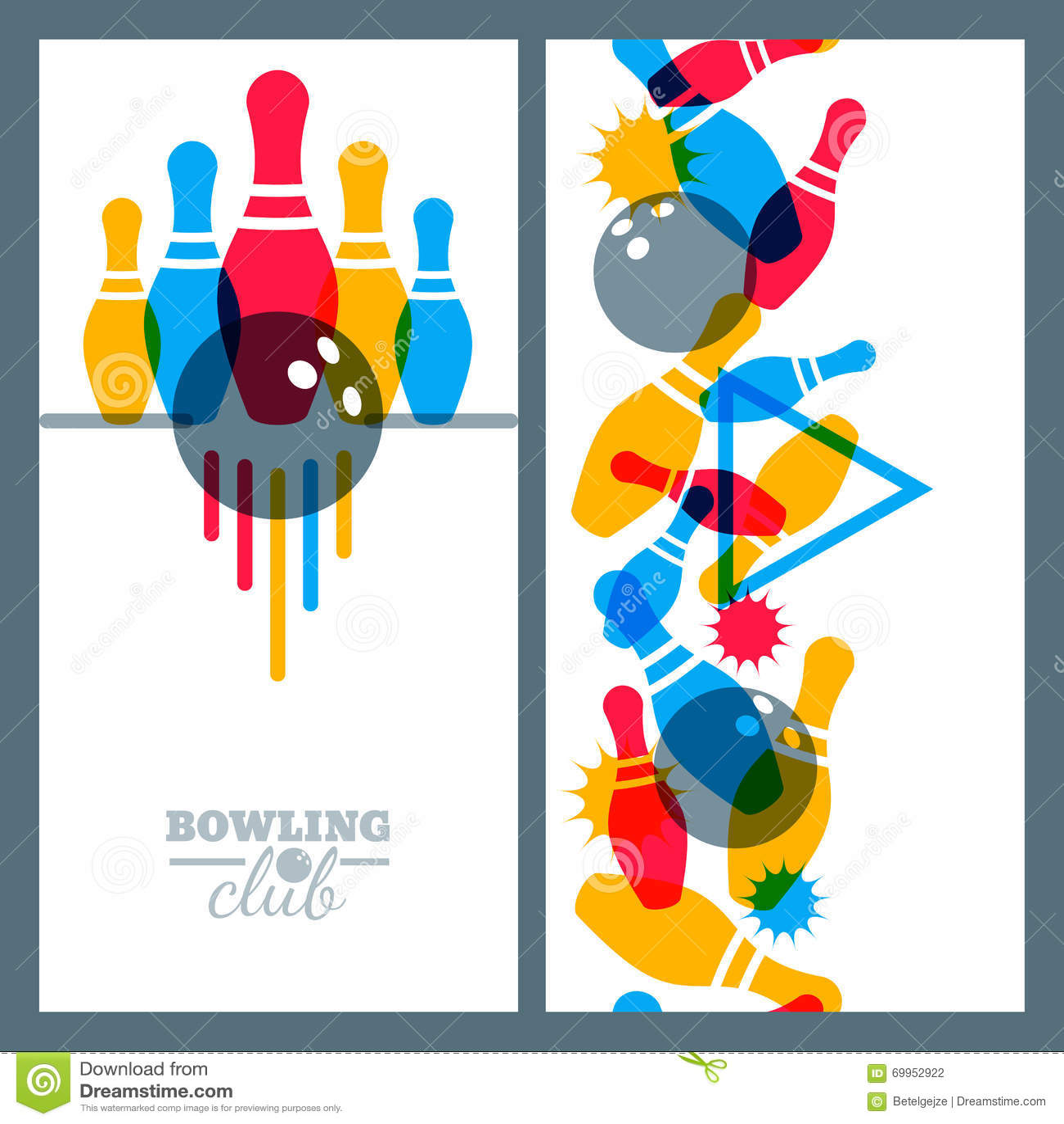 Design elements banner - Background Ball Banner Bowling Design