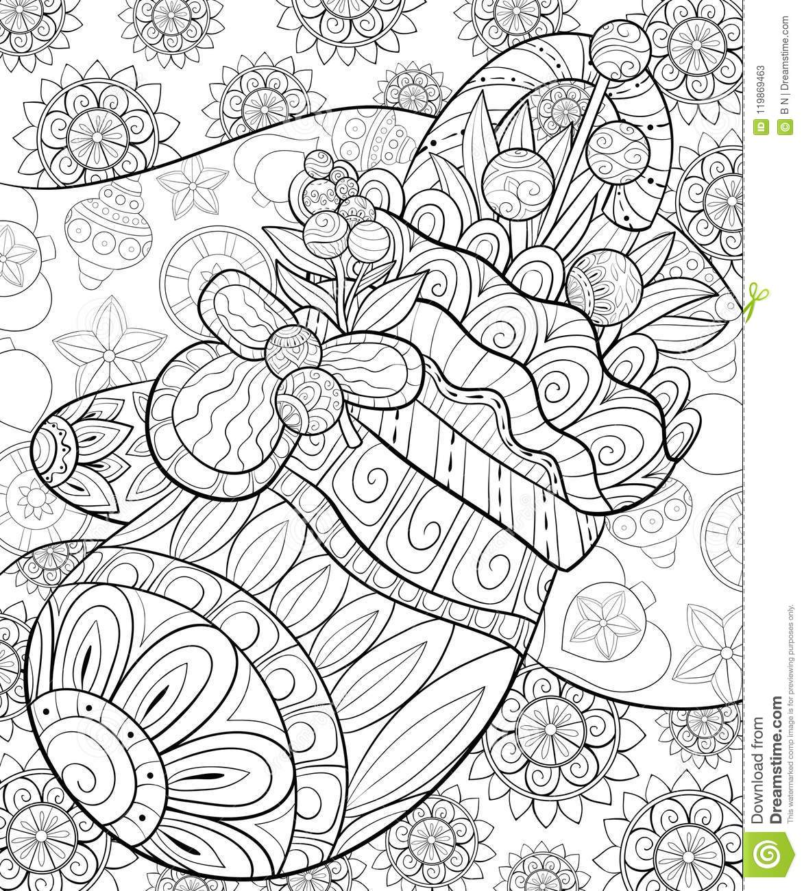 Zentangle Christmas Reindeer Coloring Page • FREE Printable eBook ... | 1300x1173