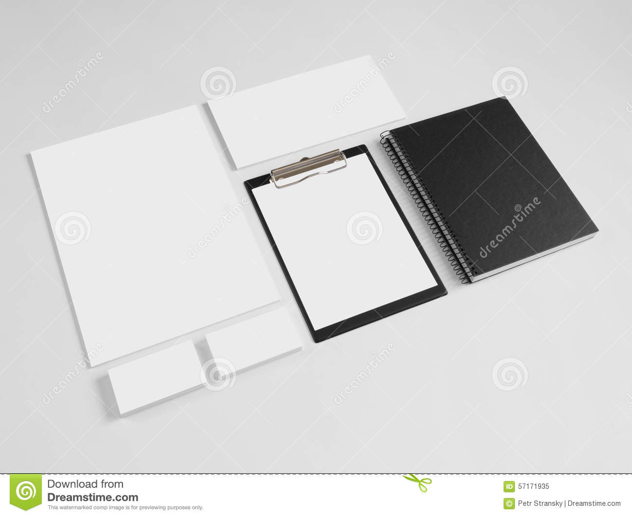 collection of branding corporate design templates stock photo