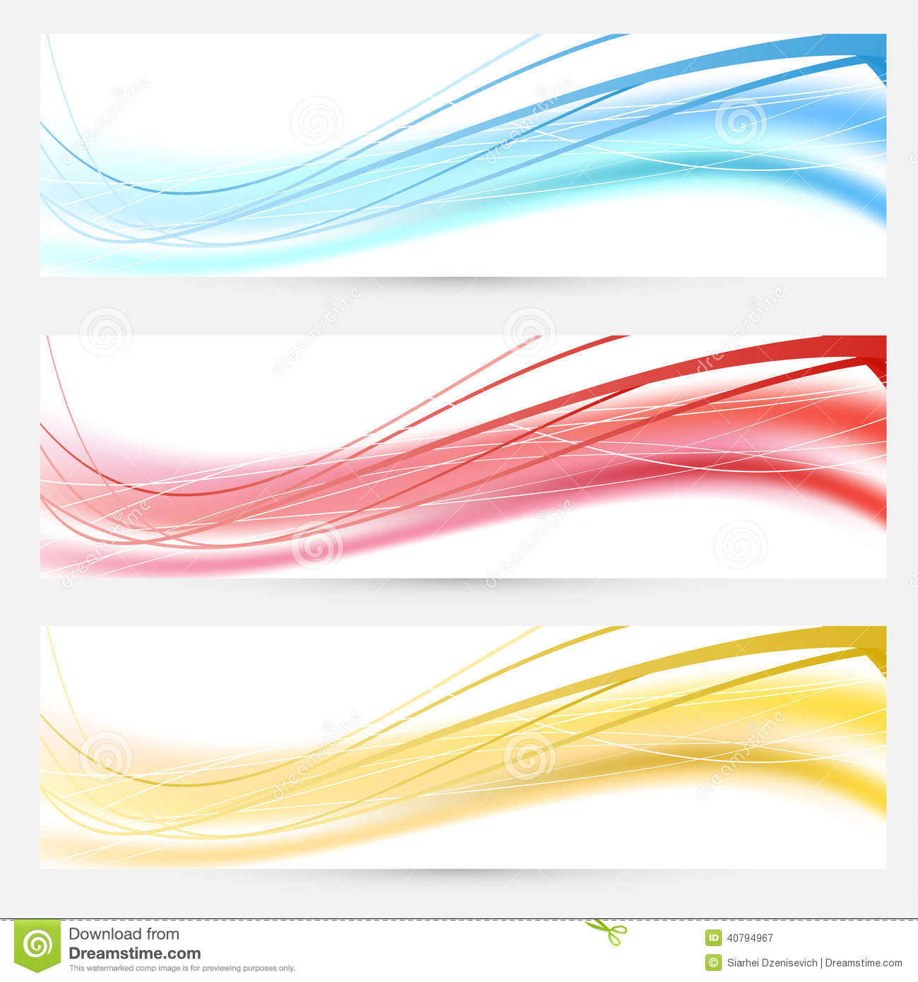 ... abstract wave lines cards headers and footers. Vector illustration