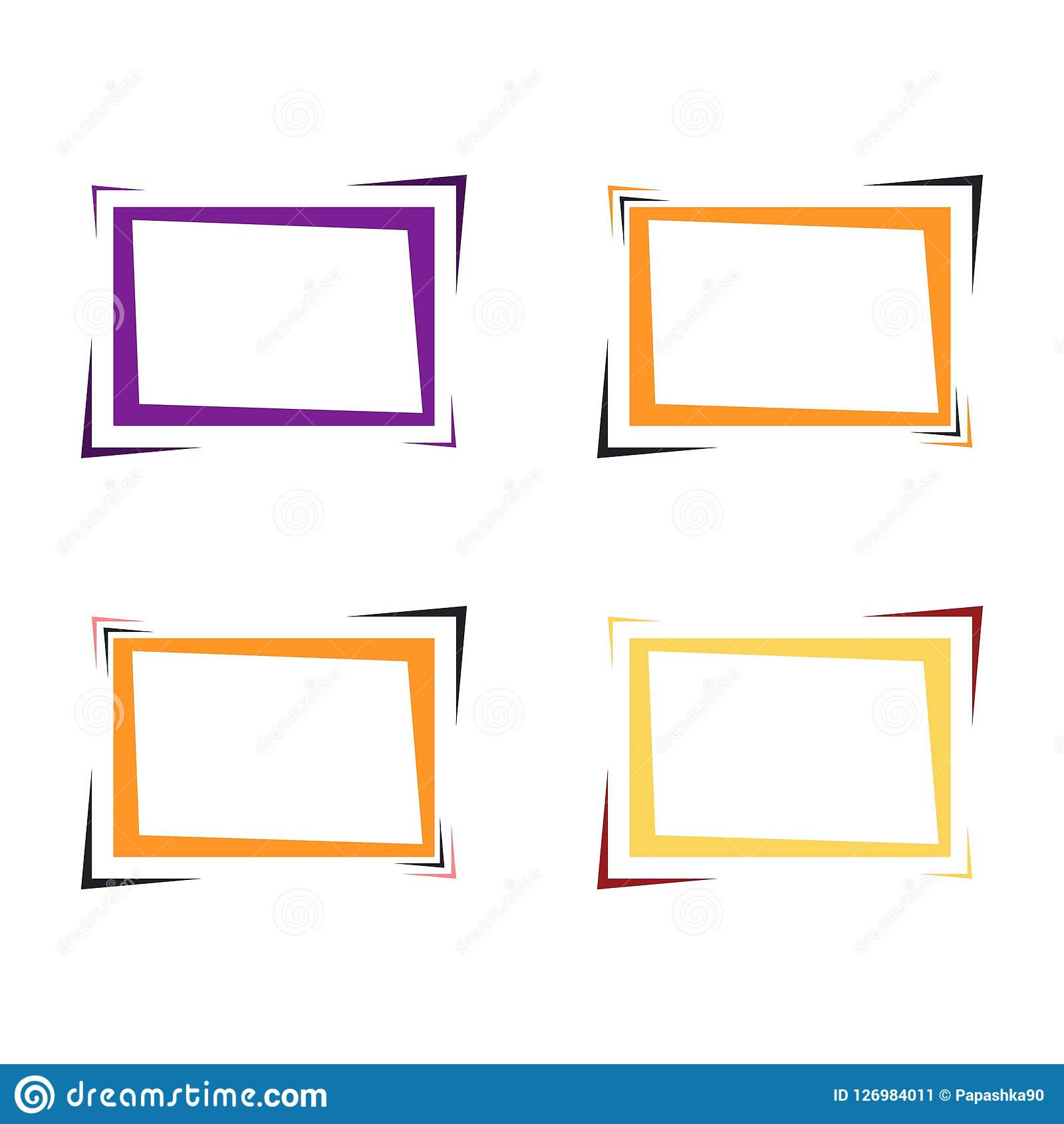 Set Of Bright Frames For Text Or Banner. Stock Vector - Illustration ...