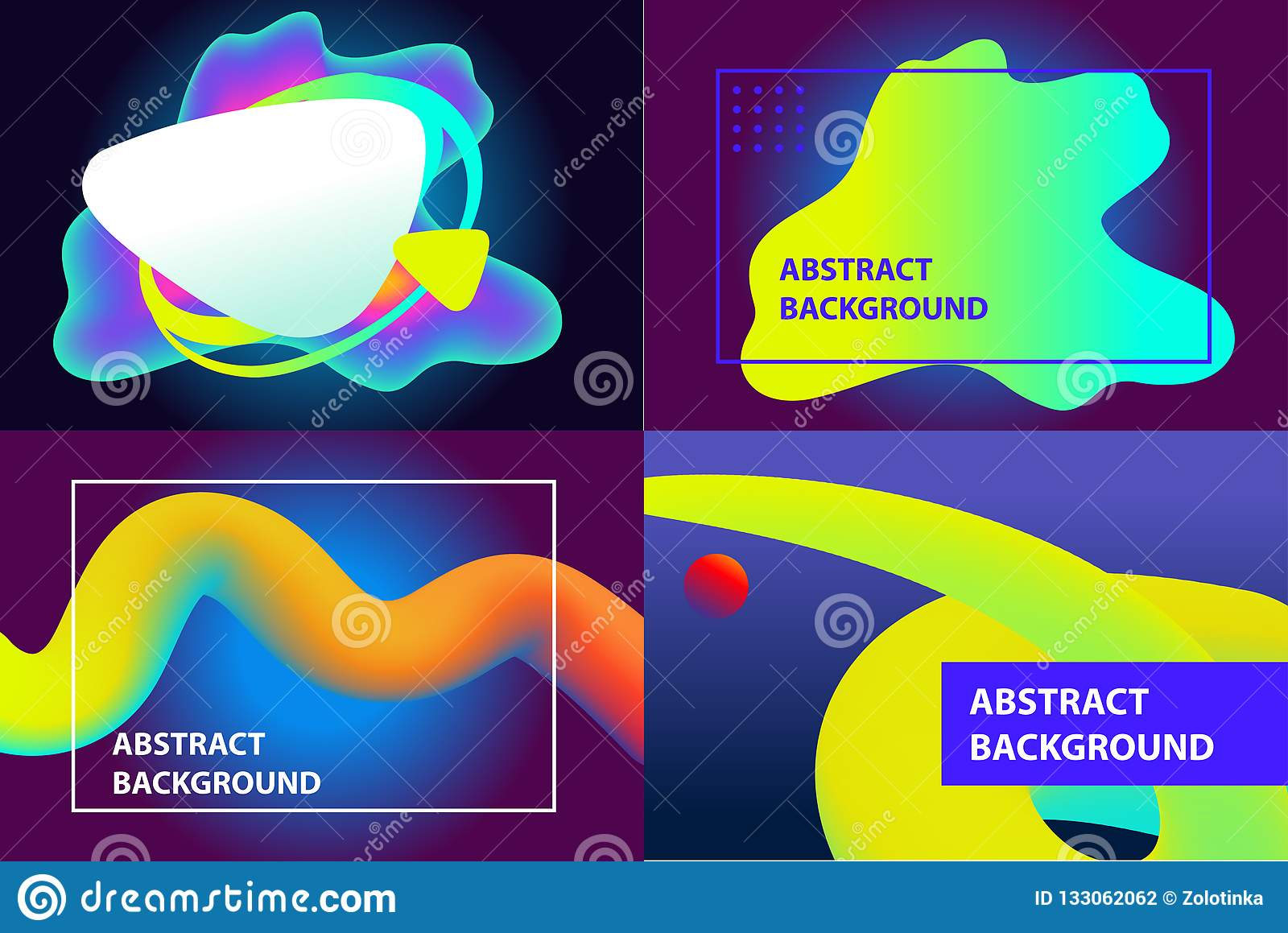 Set of brochure cover of web page, catalog design. Abstract background. Light effect. Template banner, poster, flyer