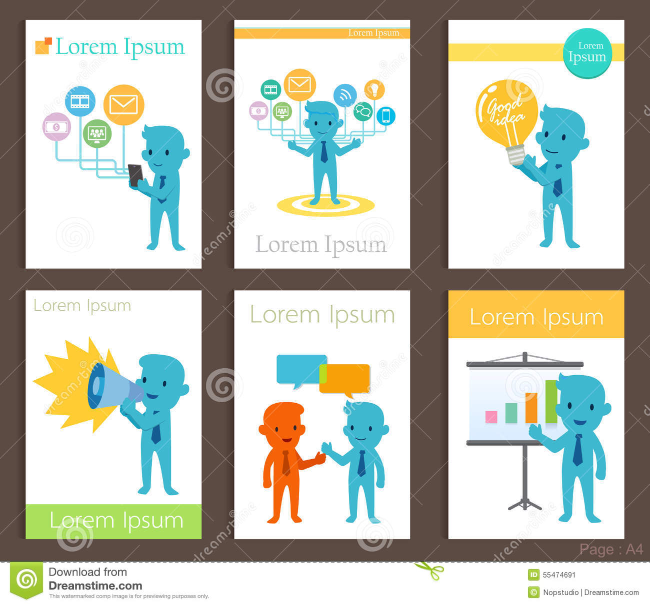 Set of brochure design business communication templates stock vector set of brochure design business communication templates stock vector illustration of entertainment background 55474691 wajeb Choice Image