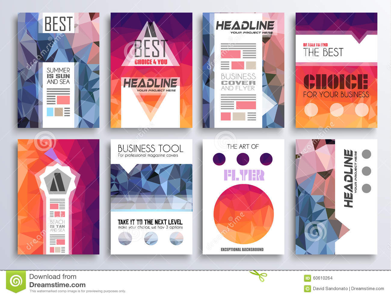 set of brochure flyers and layout templates for you projects set of brochure flyers and layout templates for you projects