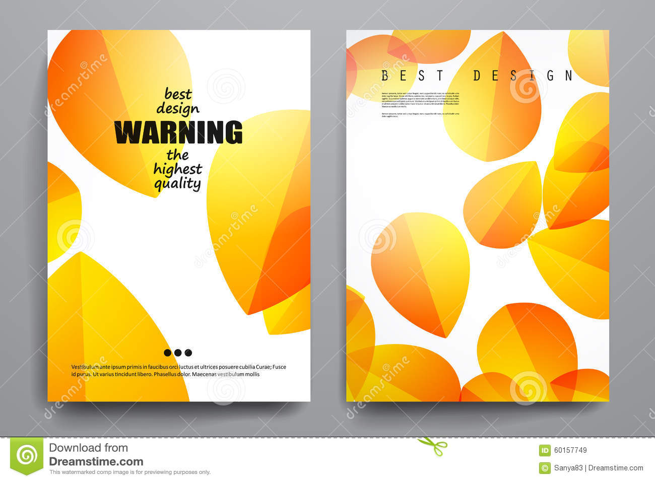 Poster design online free download - Set Of Brochure Poster Design Templates In Autumn Stock Vector
