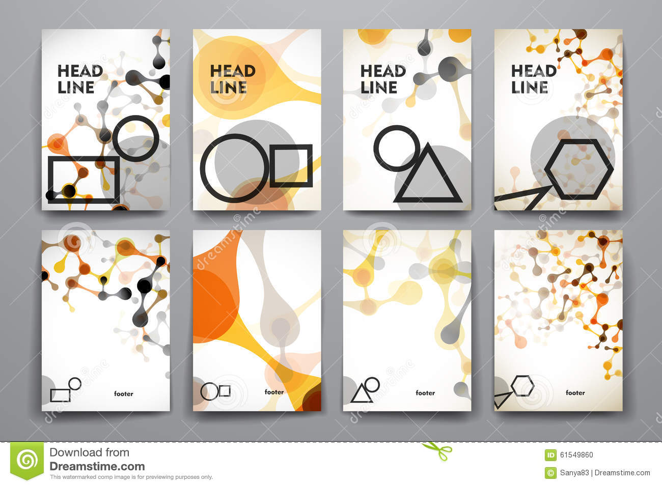 set of brochure poster design templates in dna