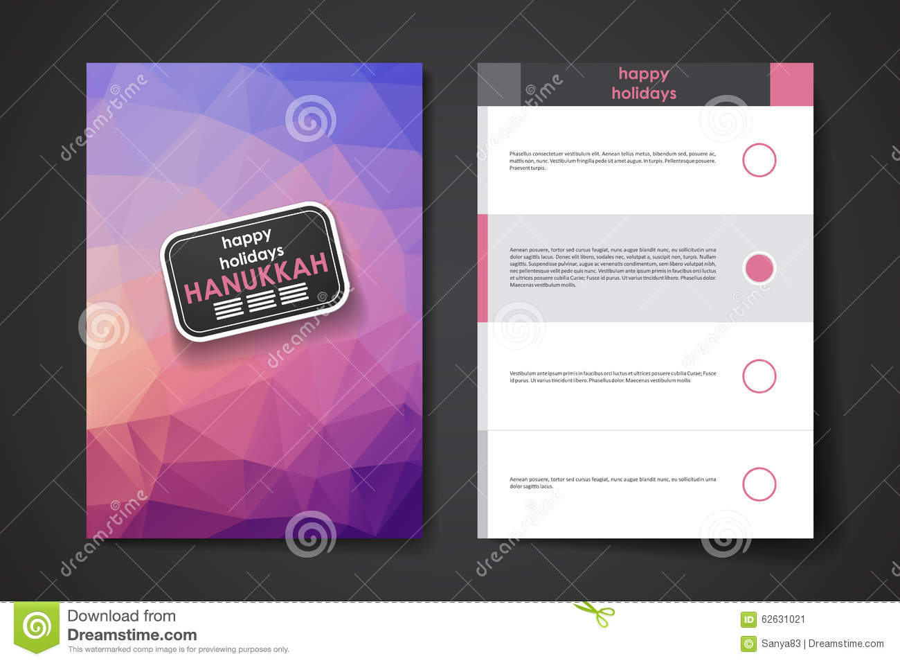 Set of brochure, poster design templates in