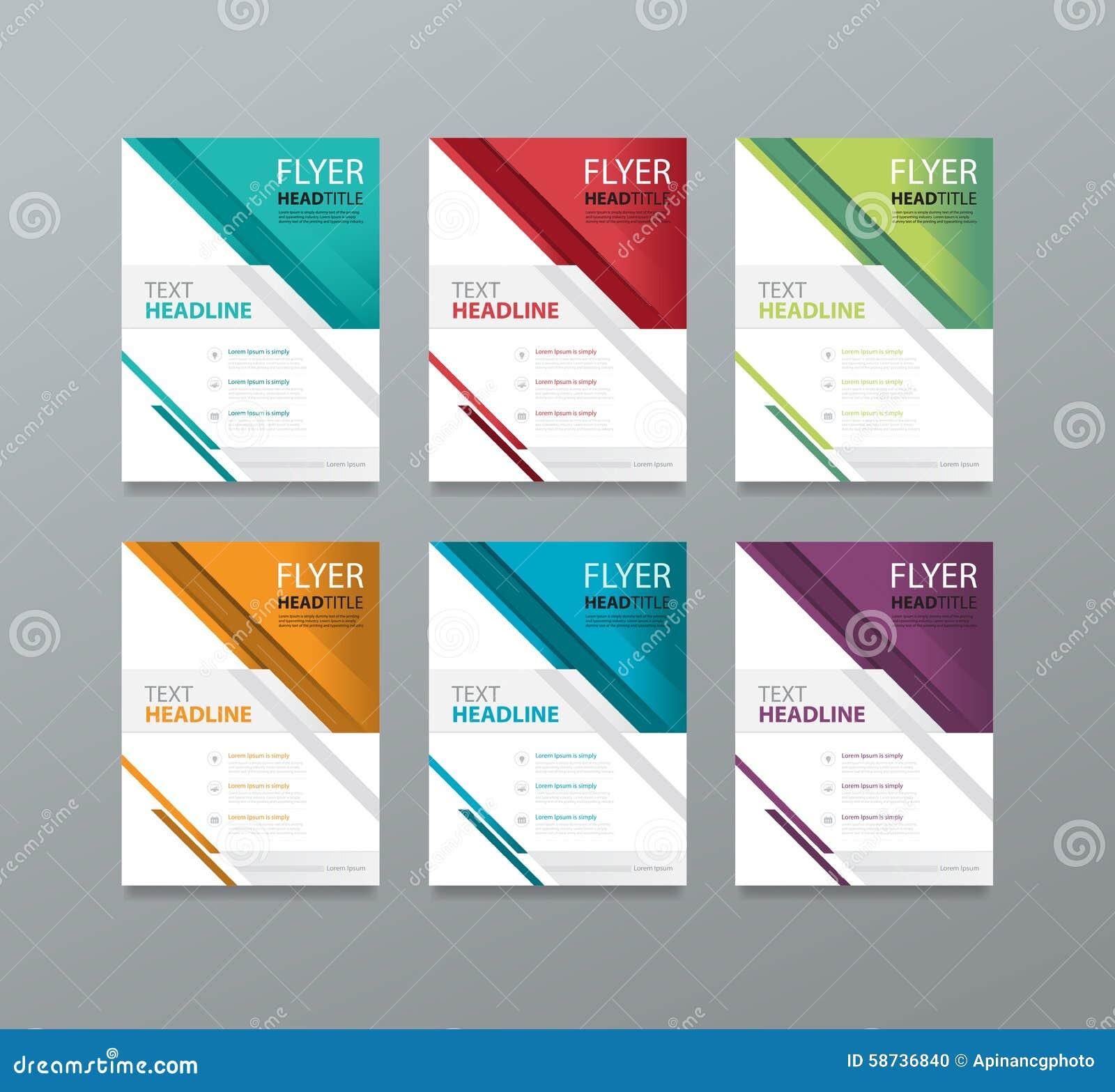 set brochure template design editable book magazine cover stock