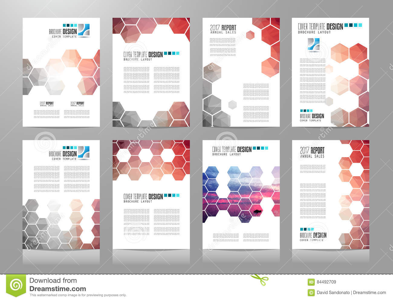 set of brochure templates flyer designs or depliant covers for