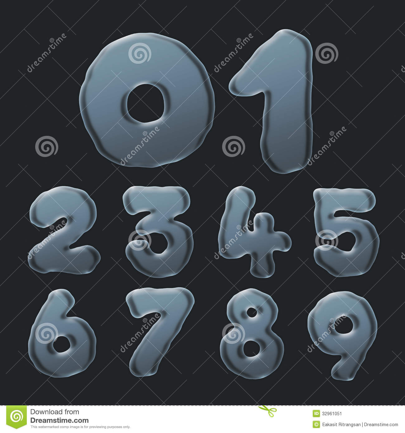Bubble Letters And Numbers To Print