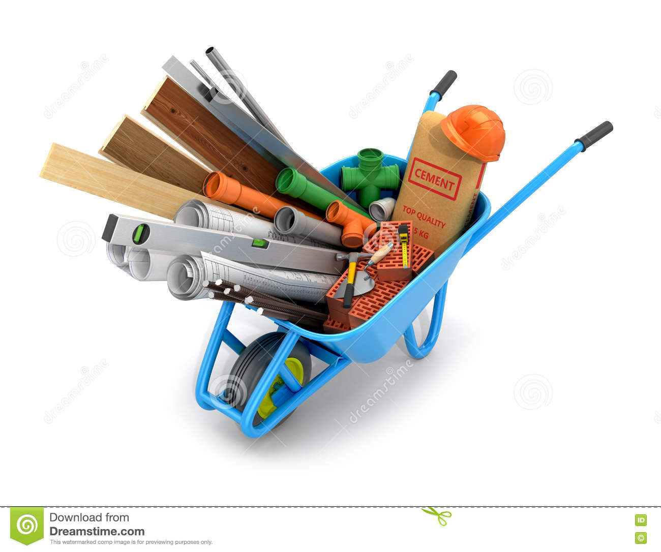 Set of building materials stock illustration image of for Supplies to build a house