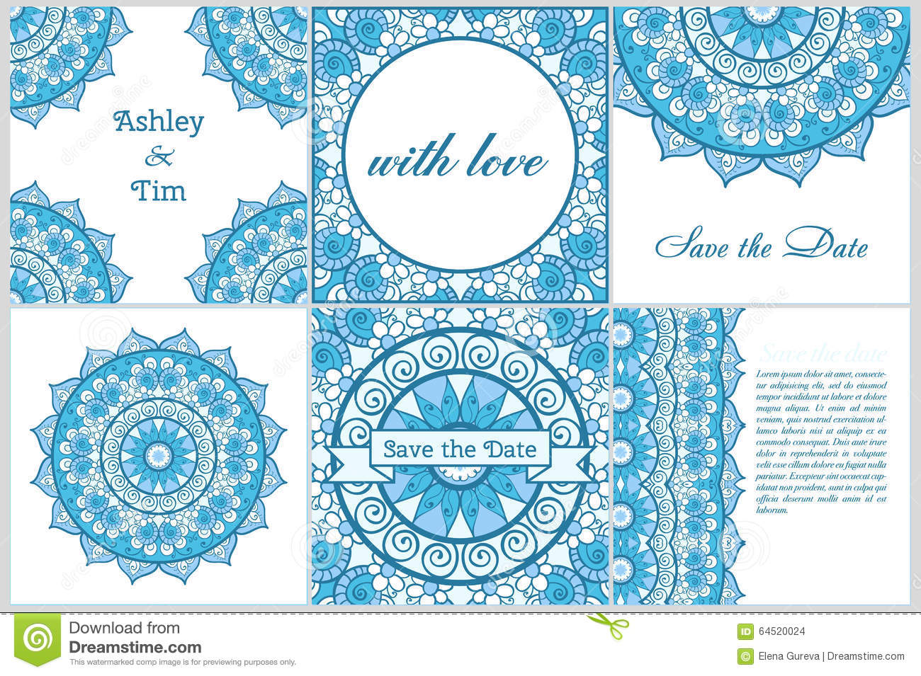 Set of business card and invitation card templates with lace set of business card and invitation card templates with lace ornament yoga center indian islam arabic ottoman motifs vintage stopboris Image collections
