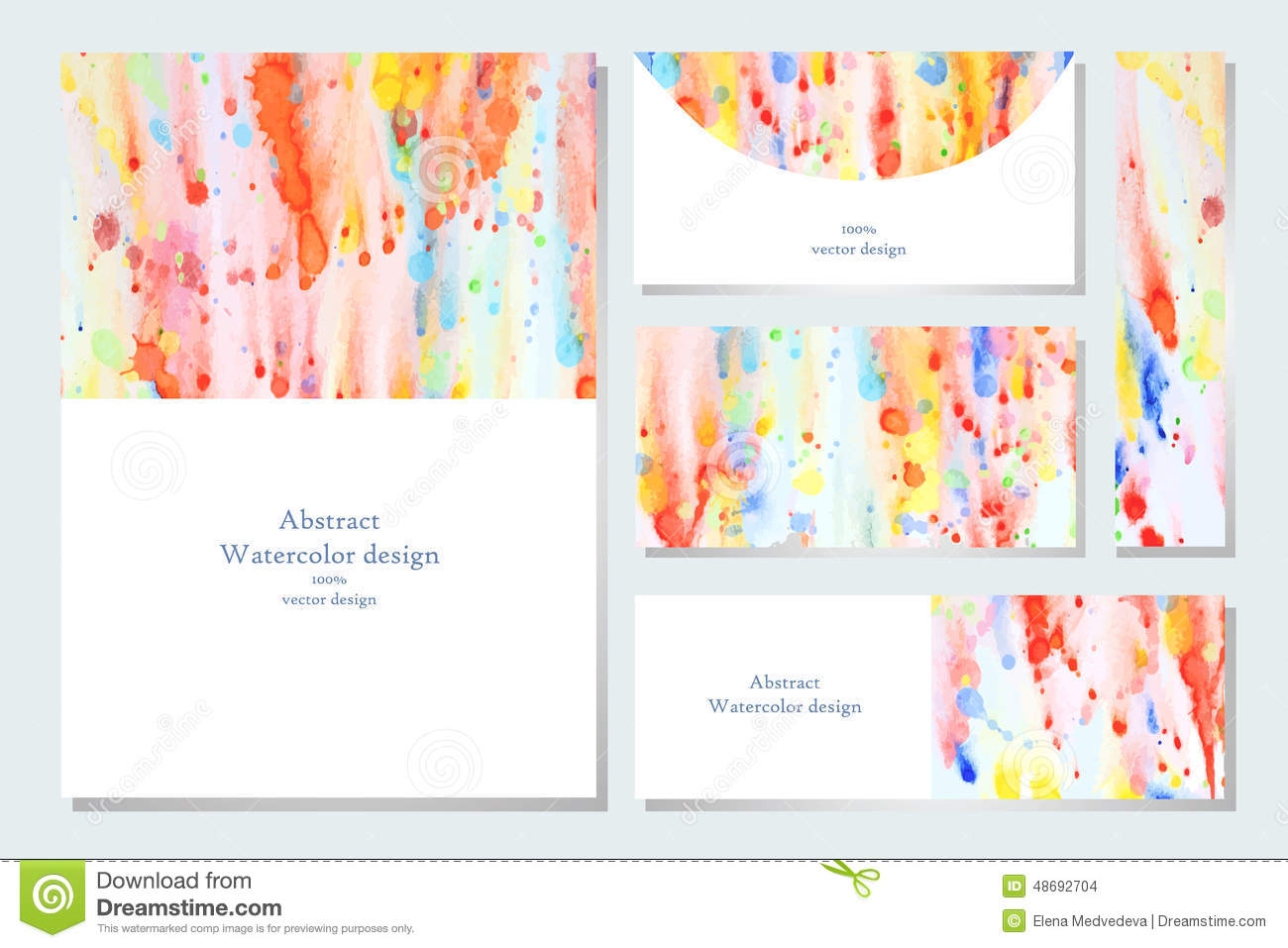 set of business card stock vector