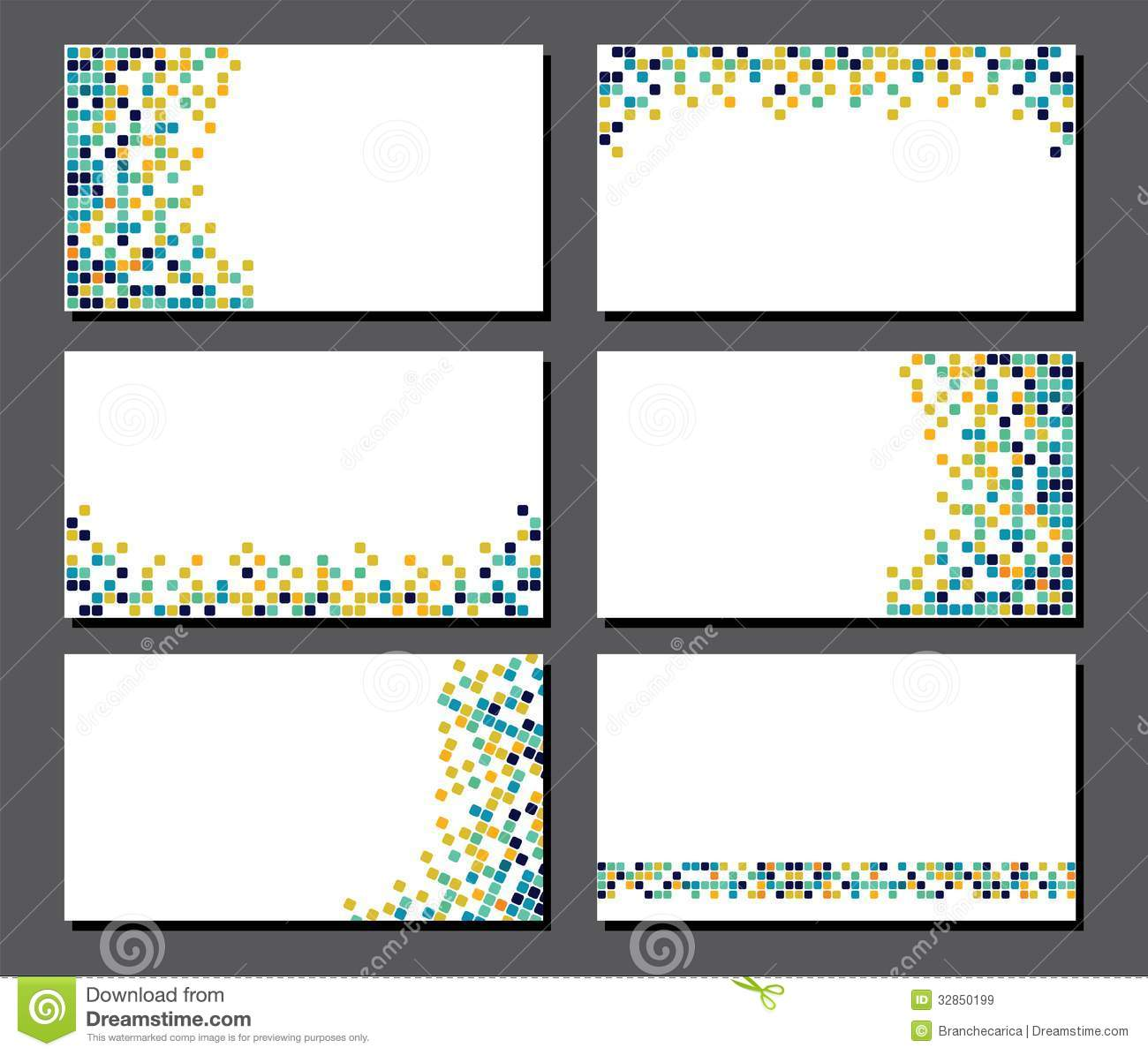 Set of business cards pixel art stock vector illustration of download comp colourmoves