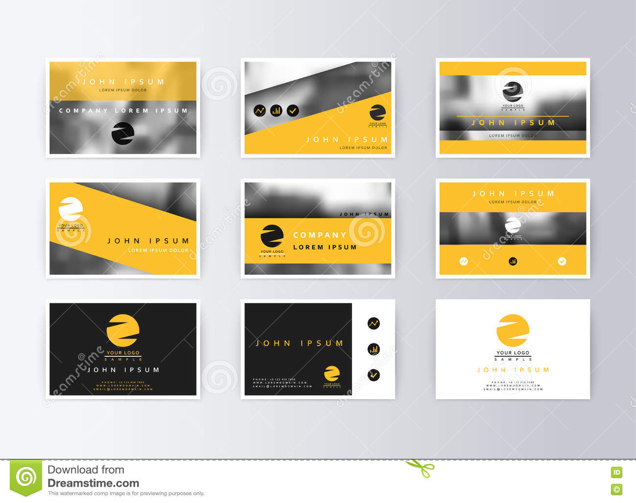 information cards template