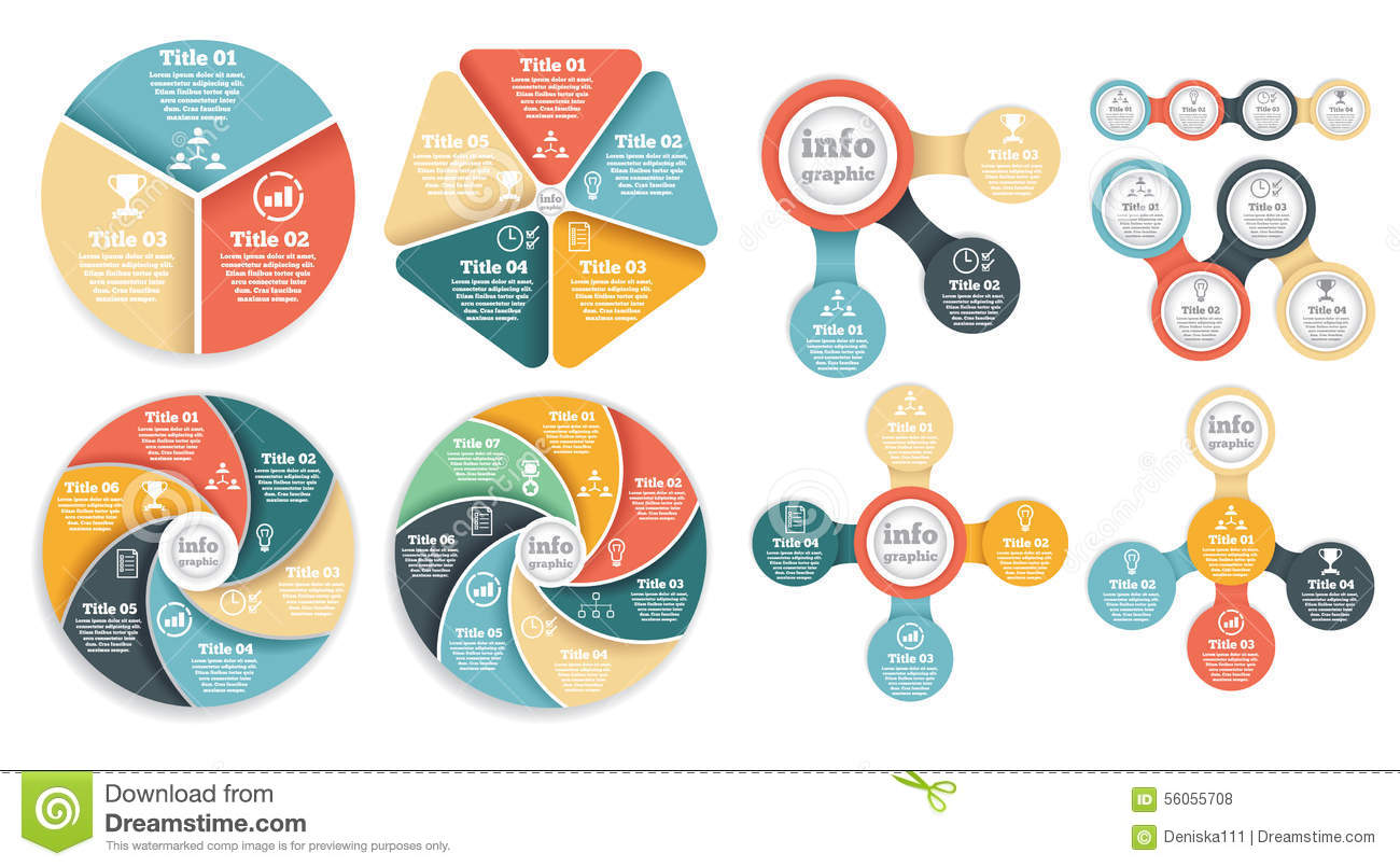 set of business circle info graphic  diagram stock vector   image    set of business circle info graphic  diagram