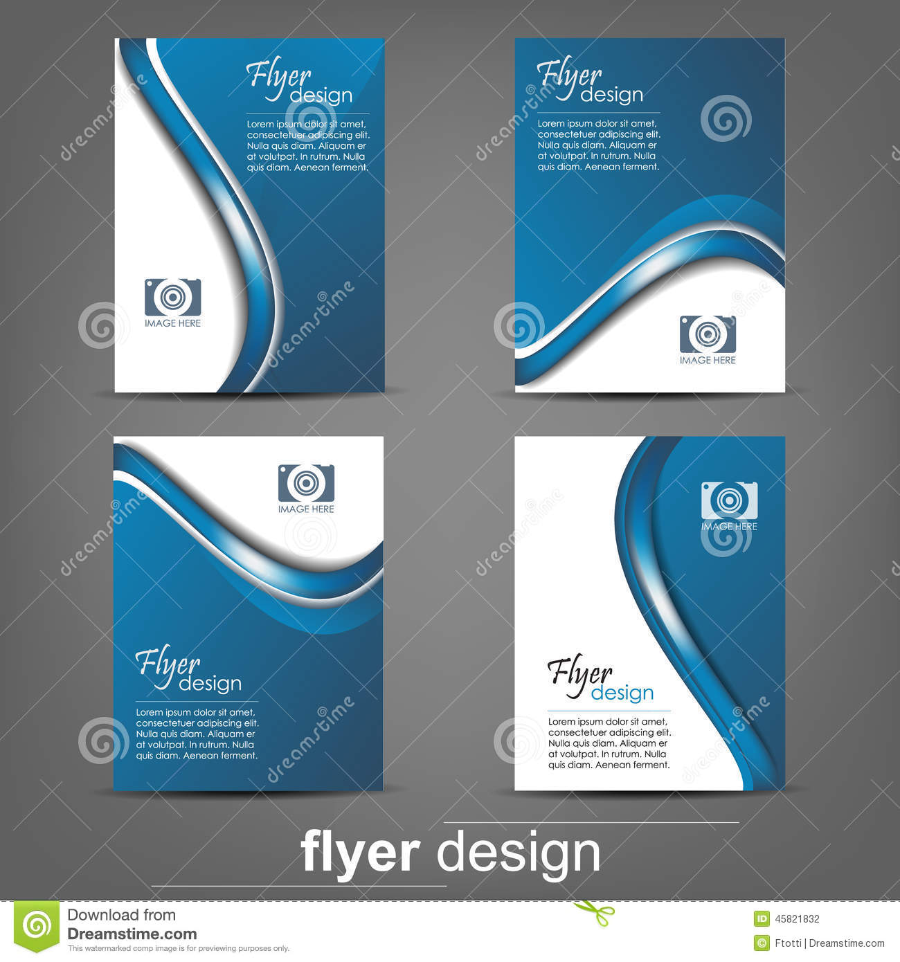 Set Of Business Flyer Template, Corporate Banner Or Cover Design ...
