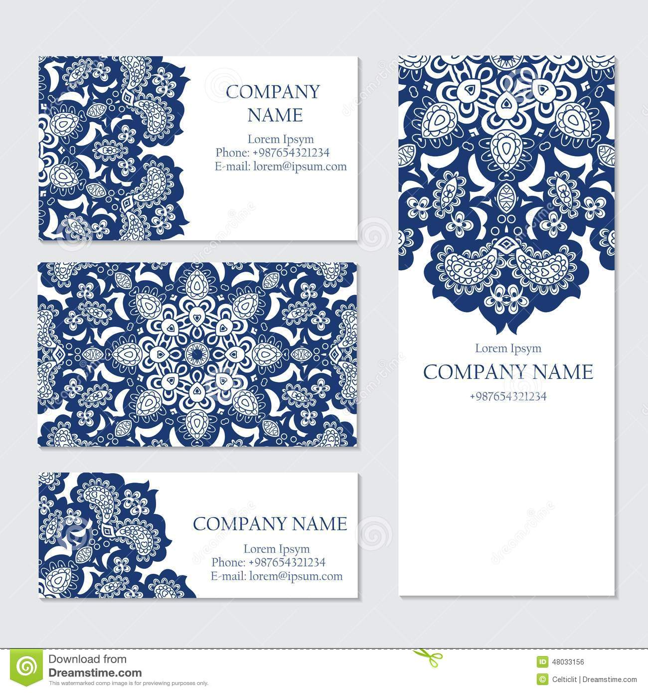 Set Of Business Or Invitation Cards Templates Stock Vector - Business invitation template