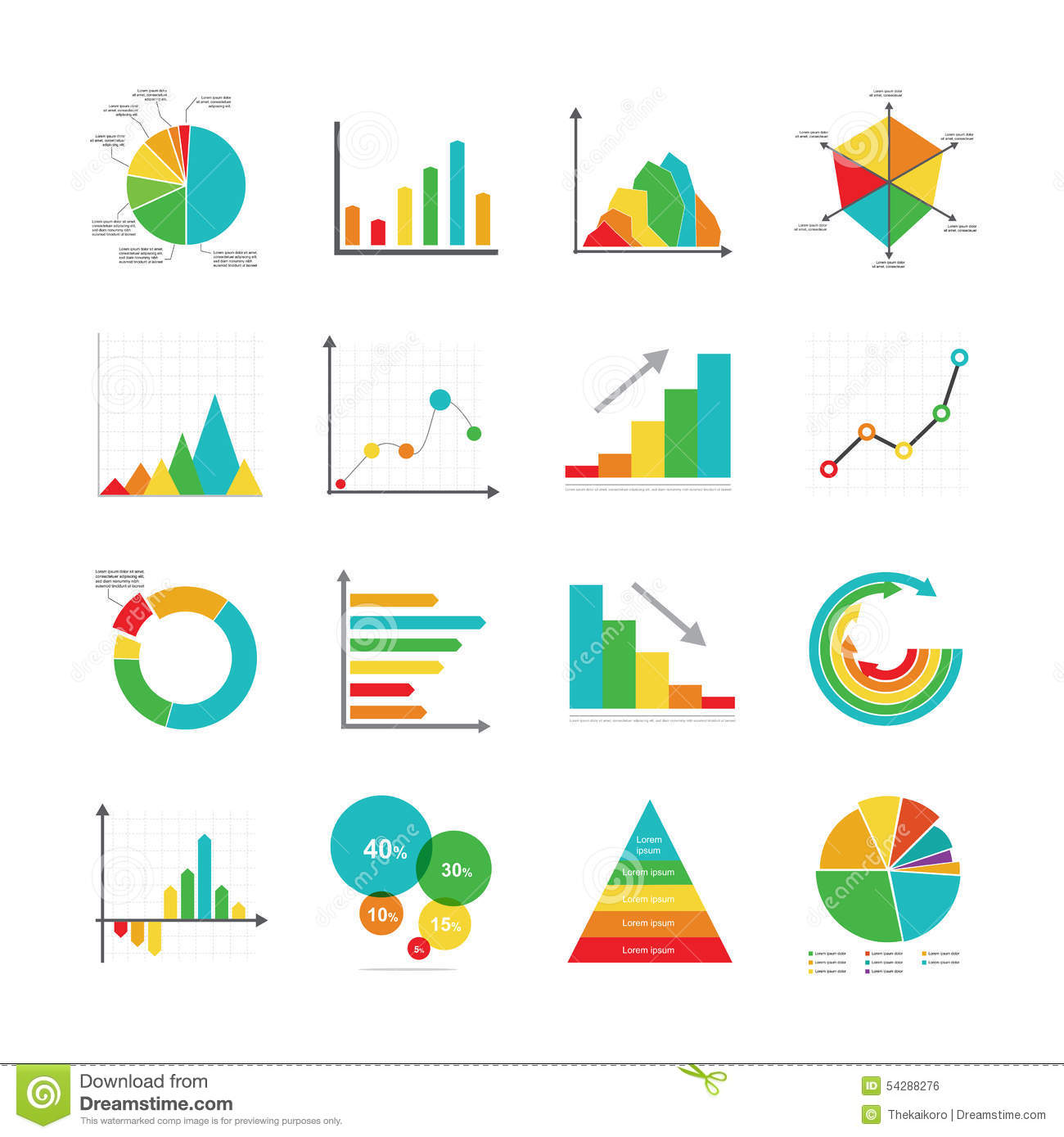 set of business marketing dot bar pie charts diagrams and graphs    set of business marketing dot bar pie charts diagrams and graphs