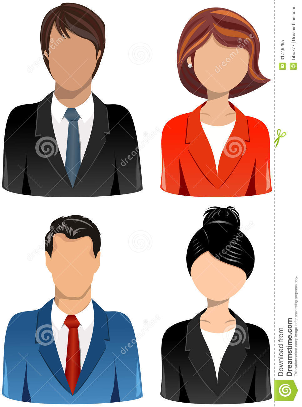 set business people icons royalty stock photo image