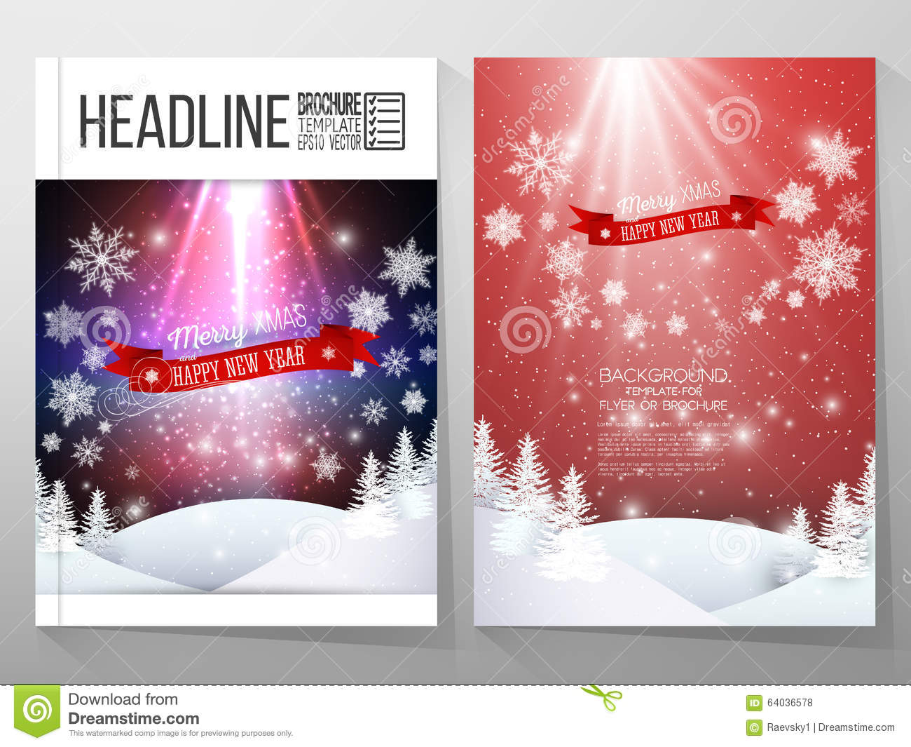 Set of business templates for brochure, flyer or