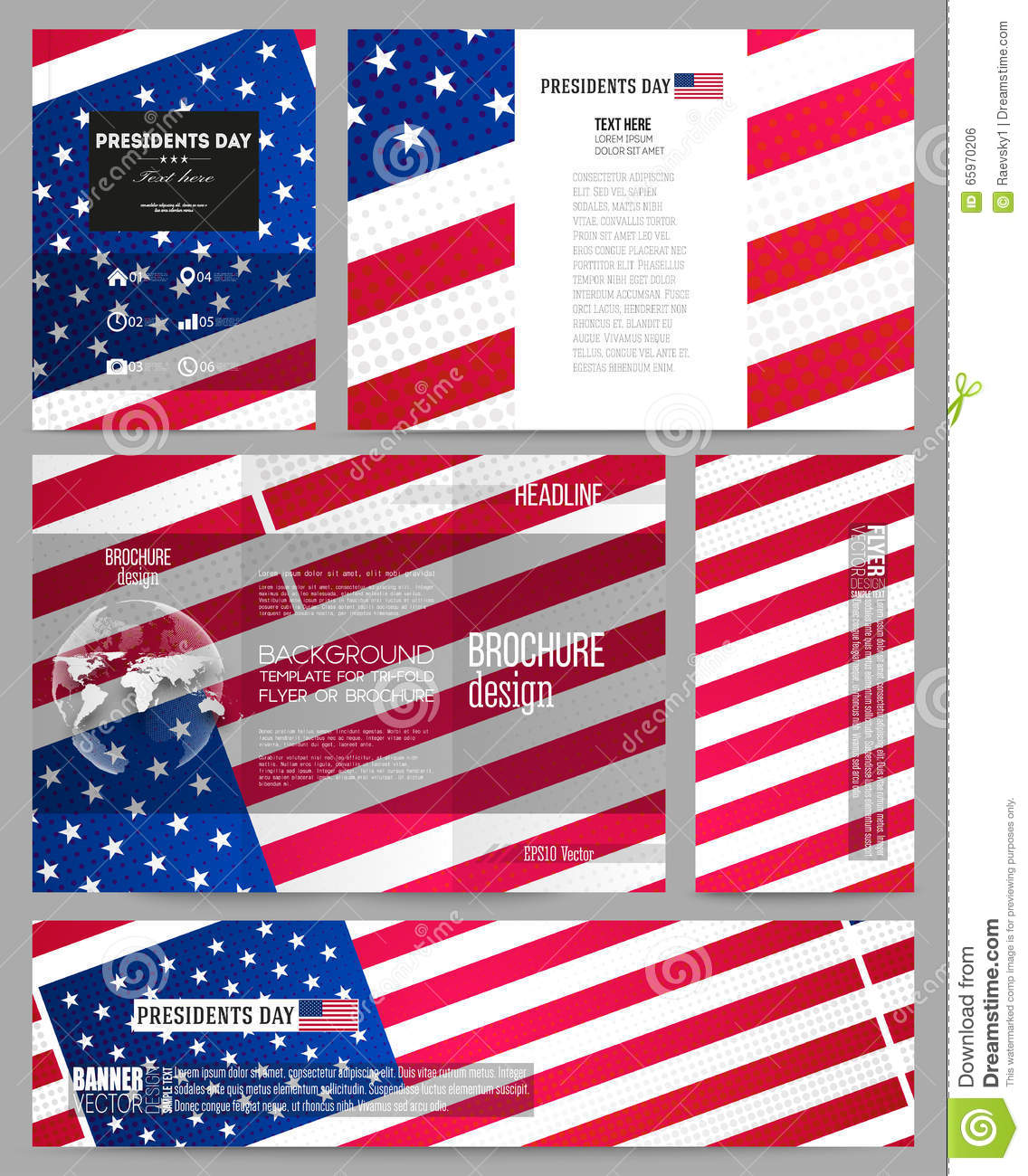 set of business templates for brochure flyer or booklet presidents day background with american flag abstract vector cartoon vector cartoondealercom