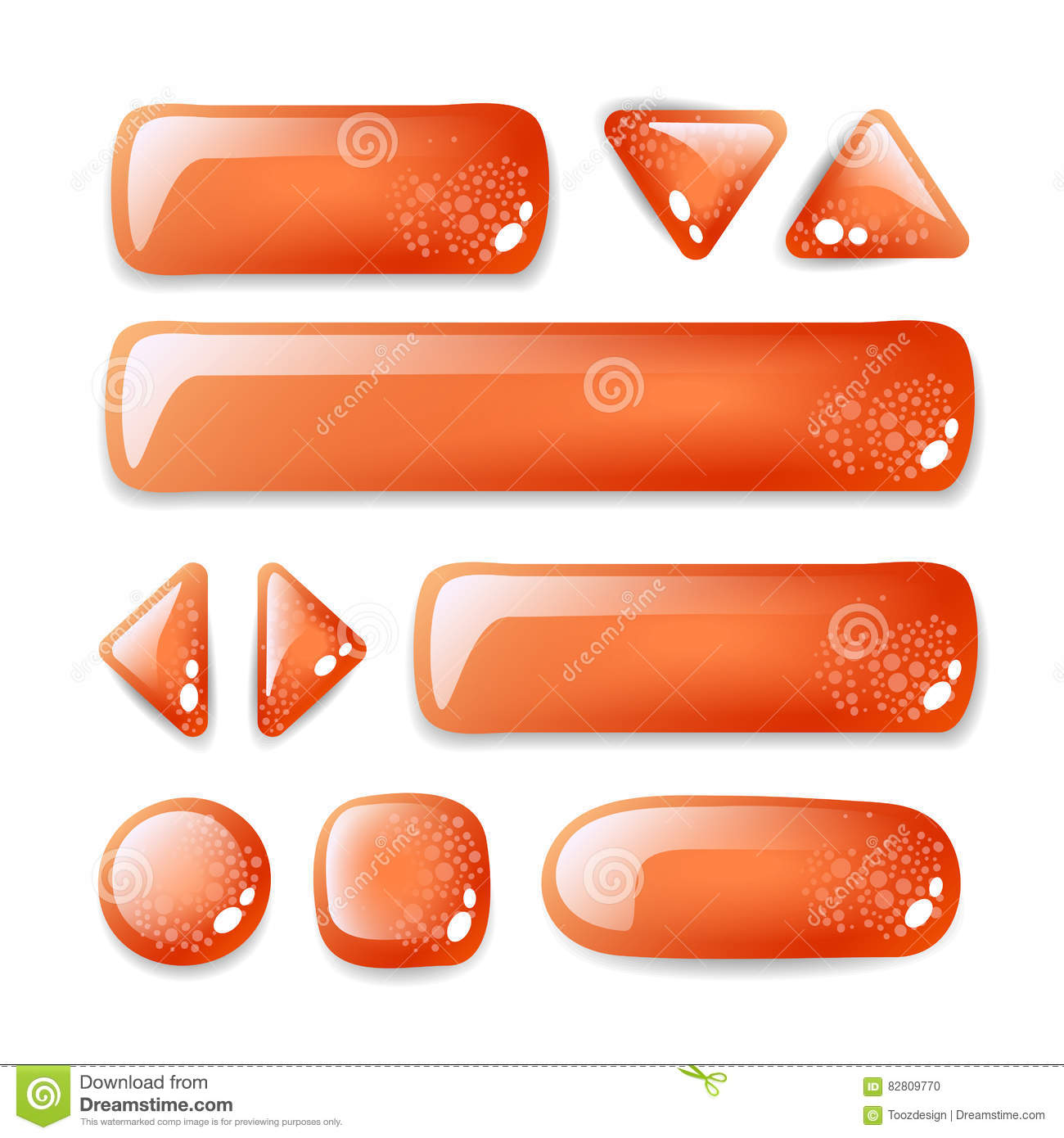 Set of buttons stock vector  Illustration of button, vector
