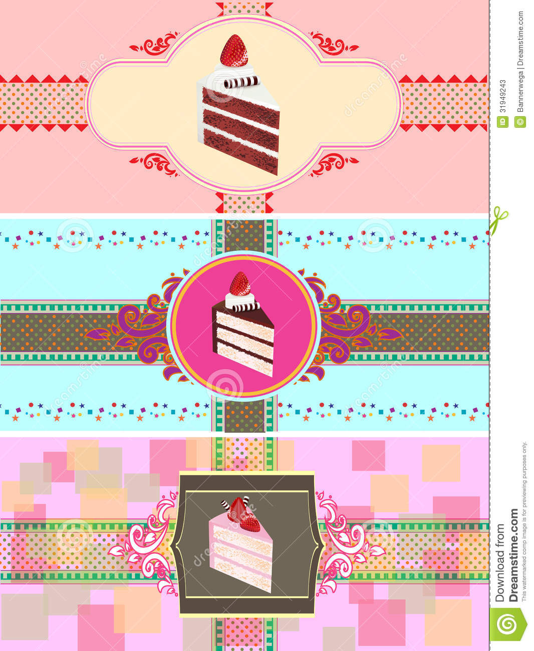 Cake Business Card Template Business Card Sample - Cake business card template