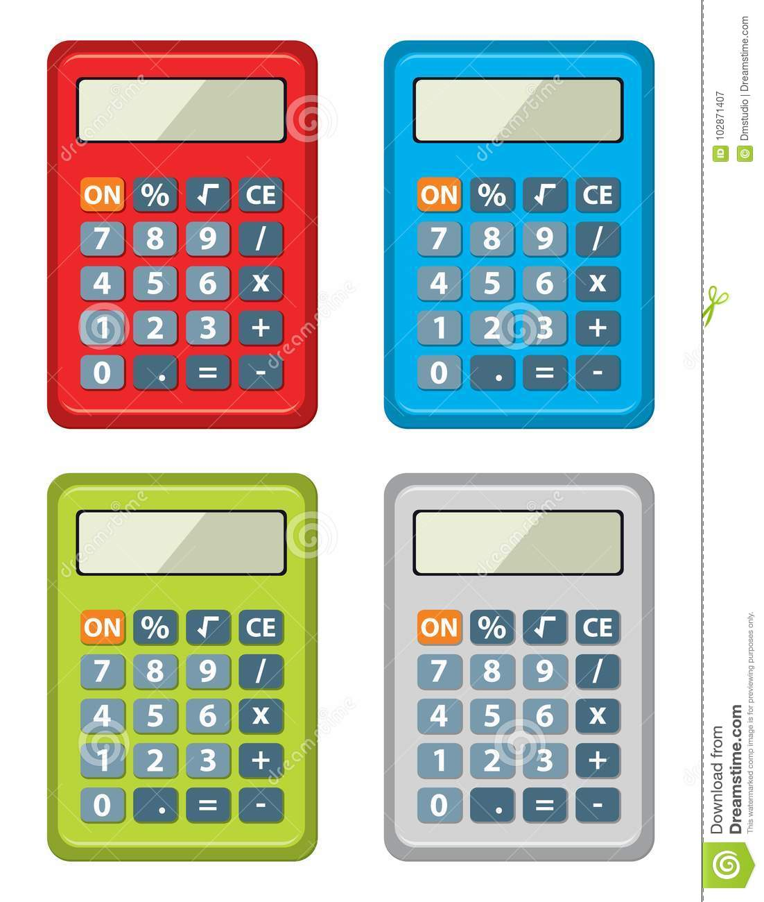 Set Of Calculator Icons. Vector Stock Vector - Illustration of ...