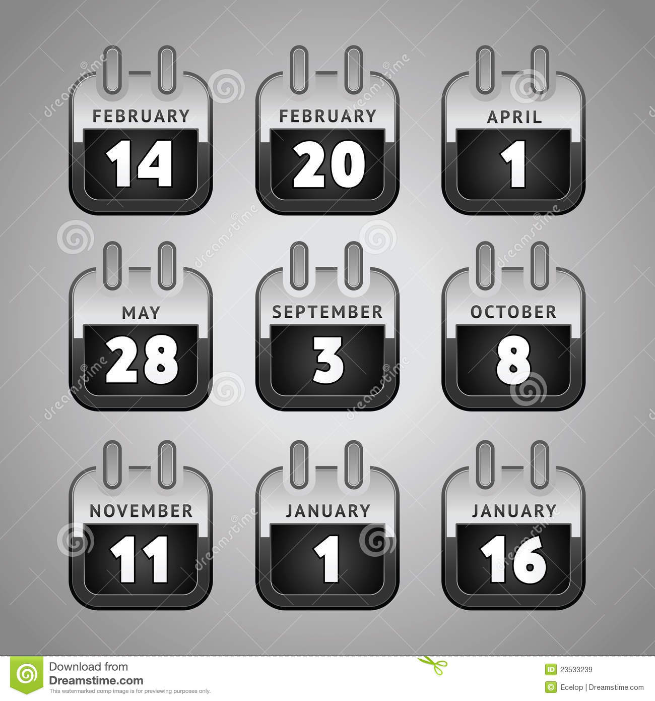 Calendar Web Icon : Set calendar web icons royalty free stock images image