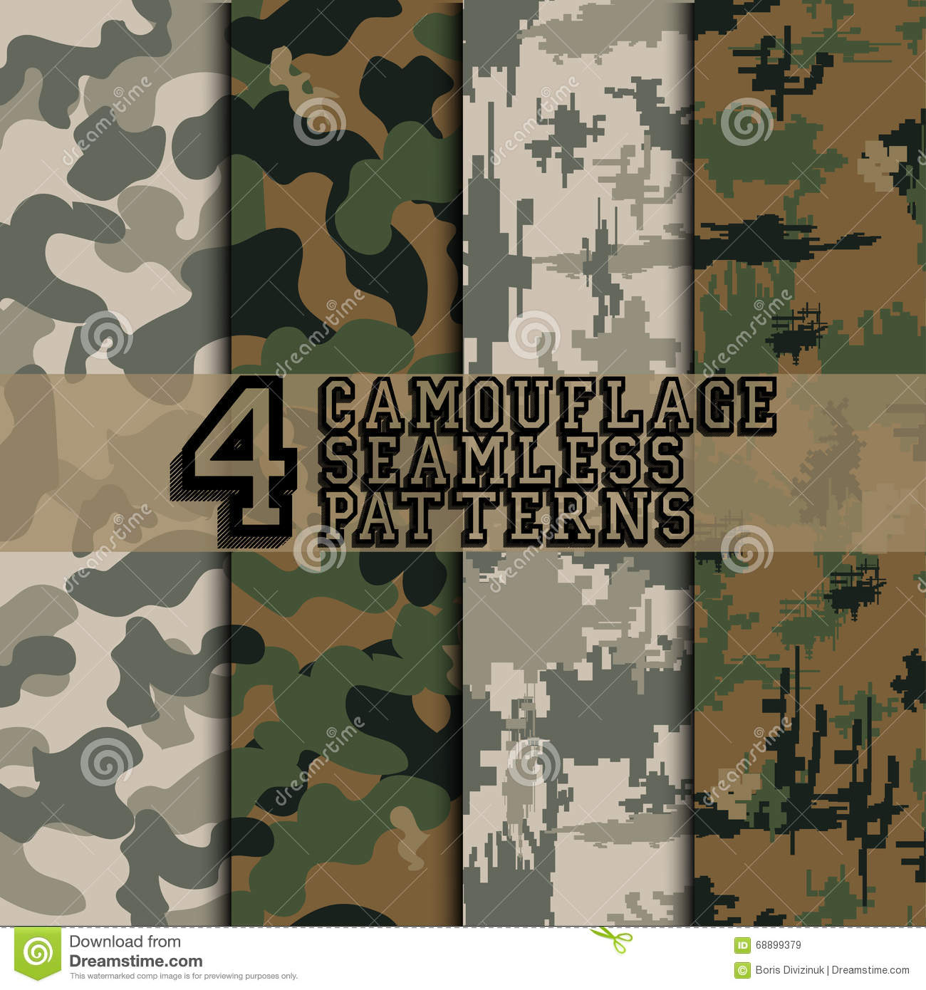 Set of camouflages