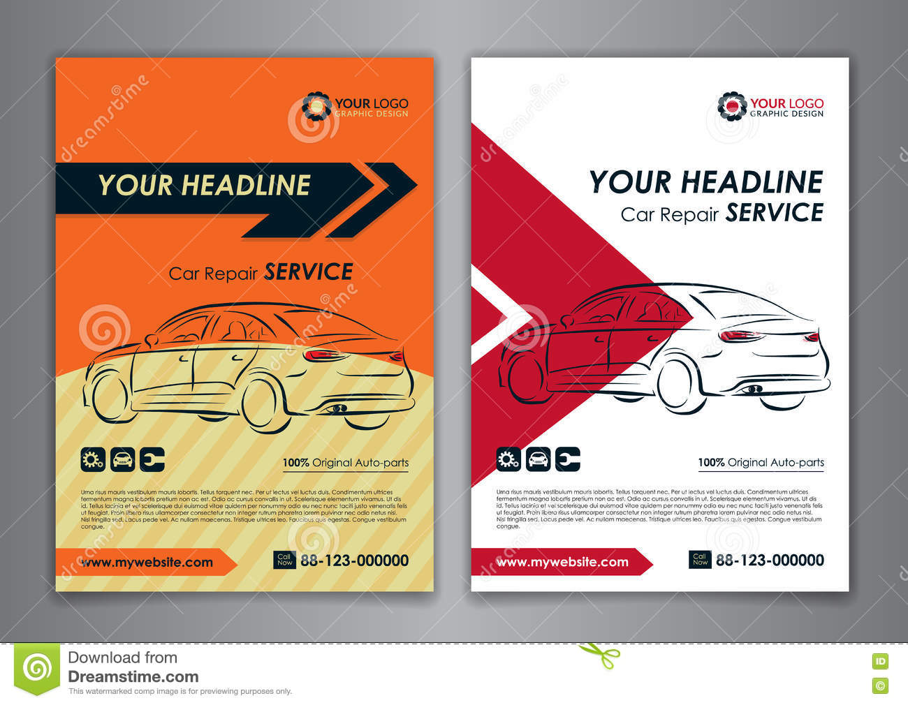 A5 a4 set car repair service business card templates auto repair a5 a4 set car repair service business card templates auto repair shop business catalogue cover layout design reheart Images
