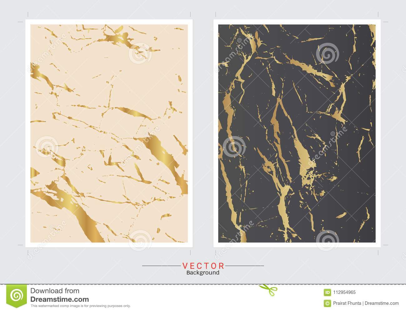 Set of cards with gentle marble textures