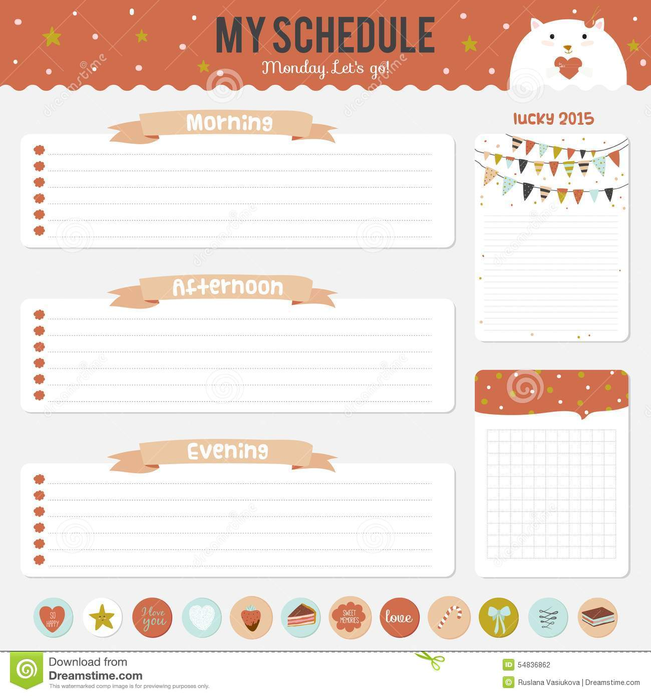 Cute timetable template insrenterprises cute timetable template pronofoot35fo Gallery